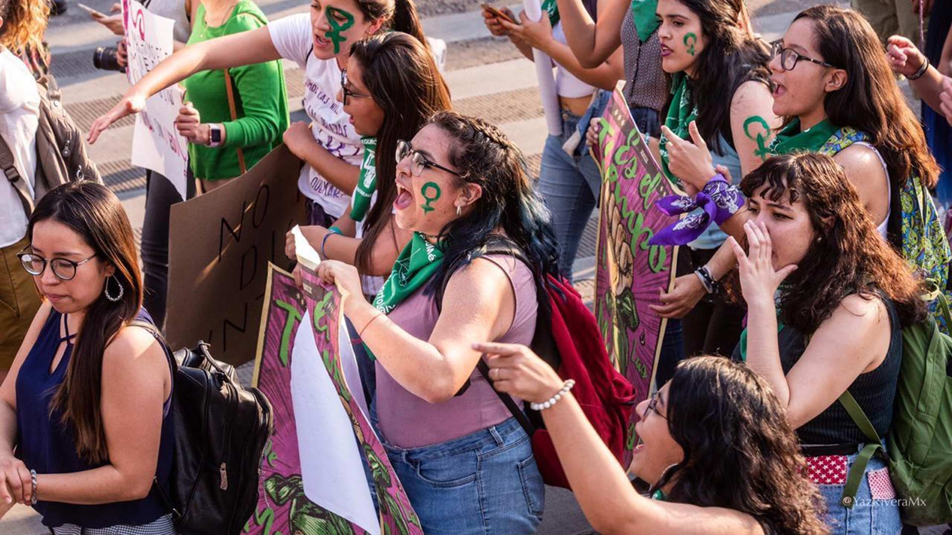 Thousands protested in Mexico City to fight for women's rights on March 8, 2019, International Women's Day.