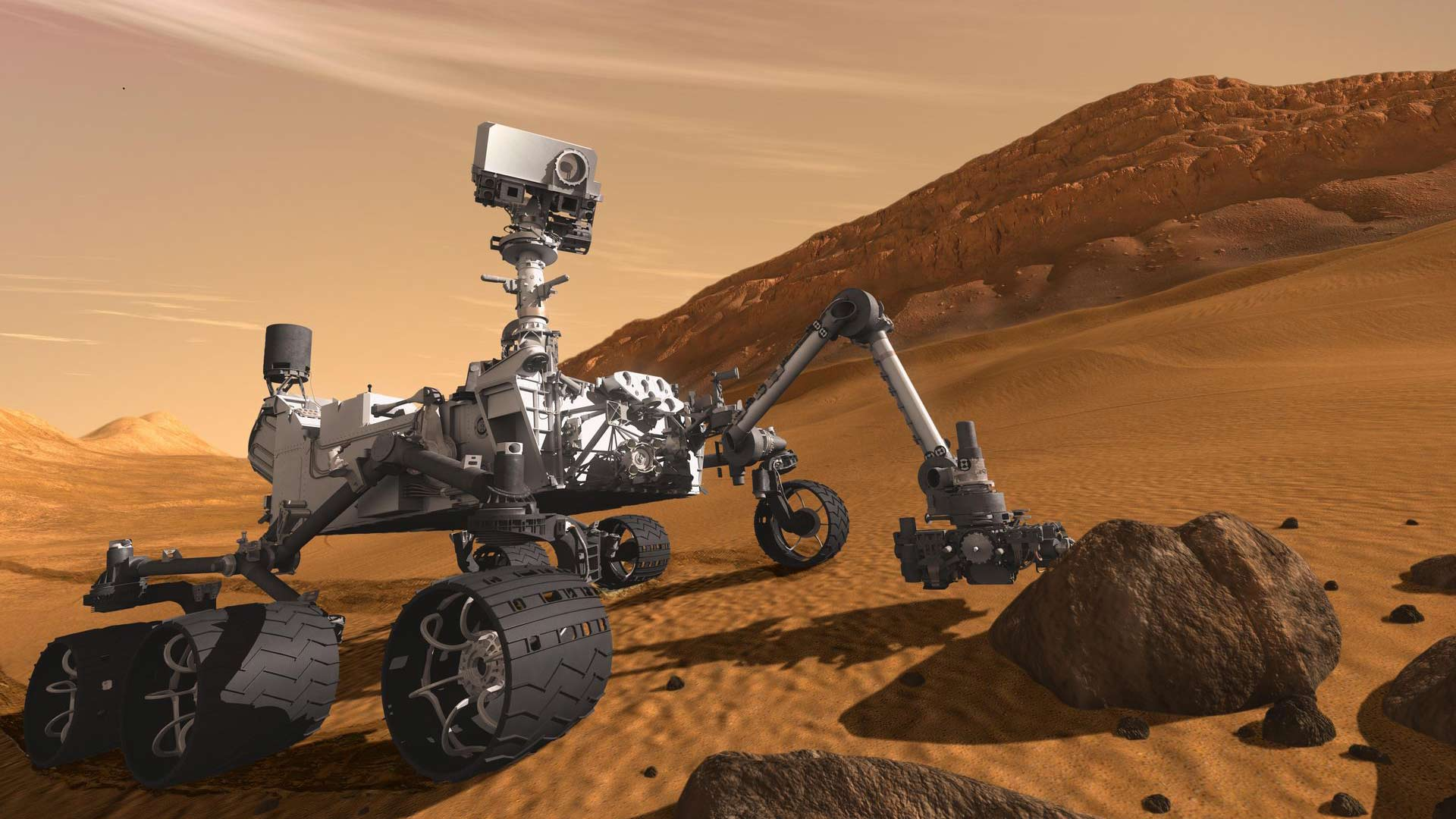 mars curiosity rover hero
