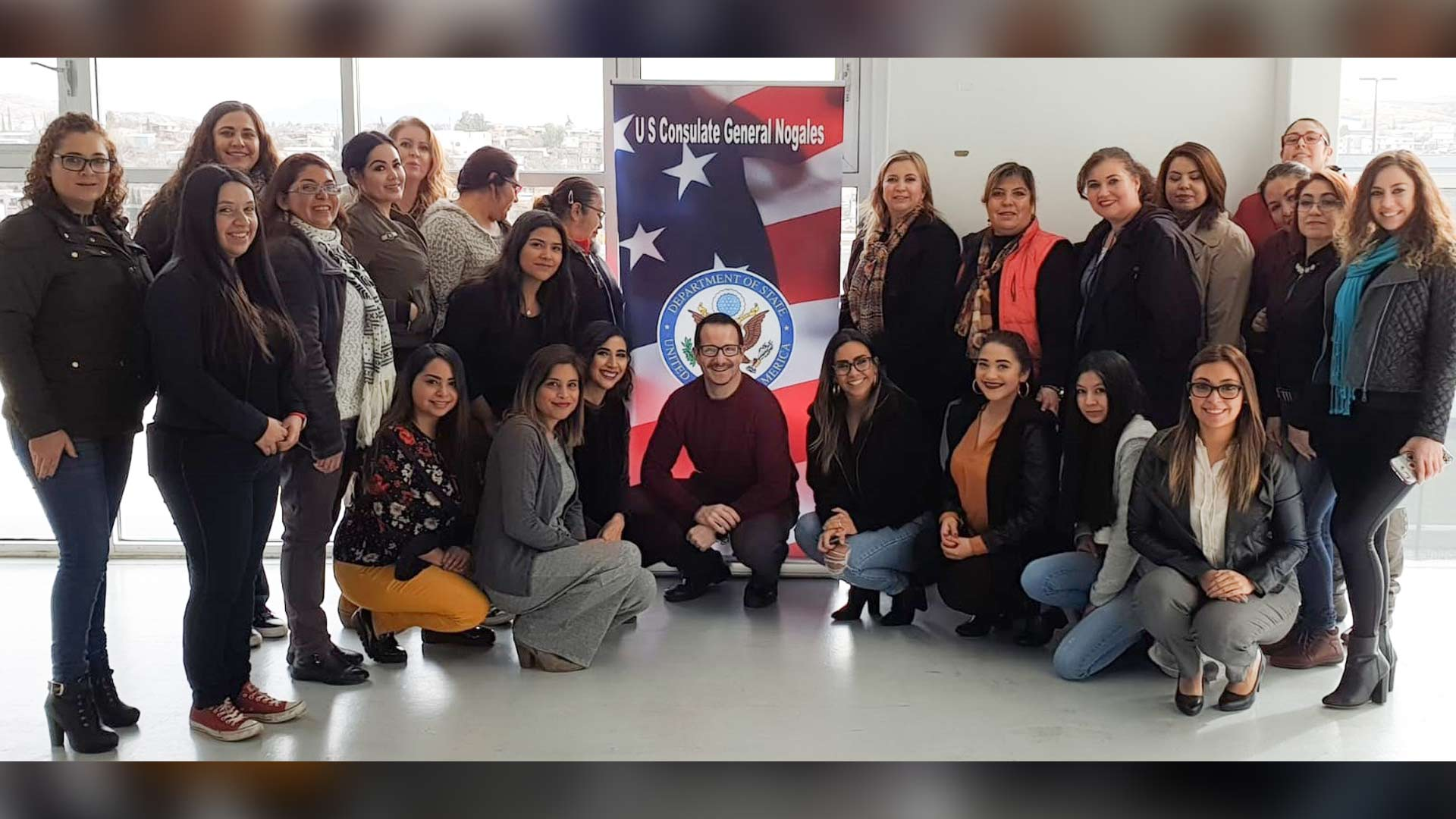 University of Arizona Professor Carlos Alsua with his McGuire Mexico Scholars class.