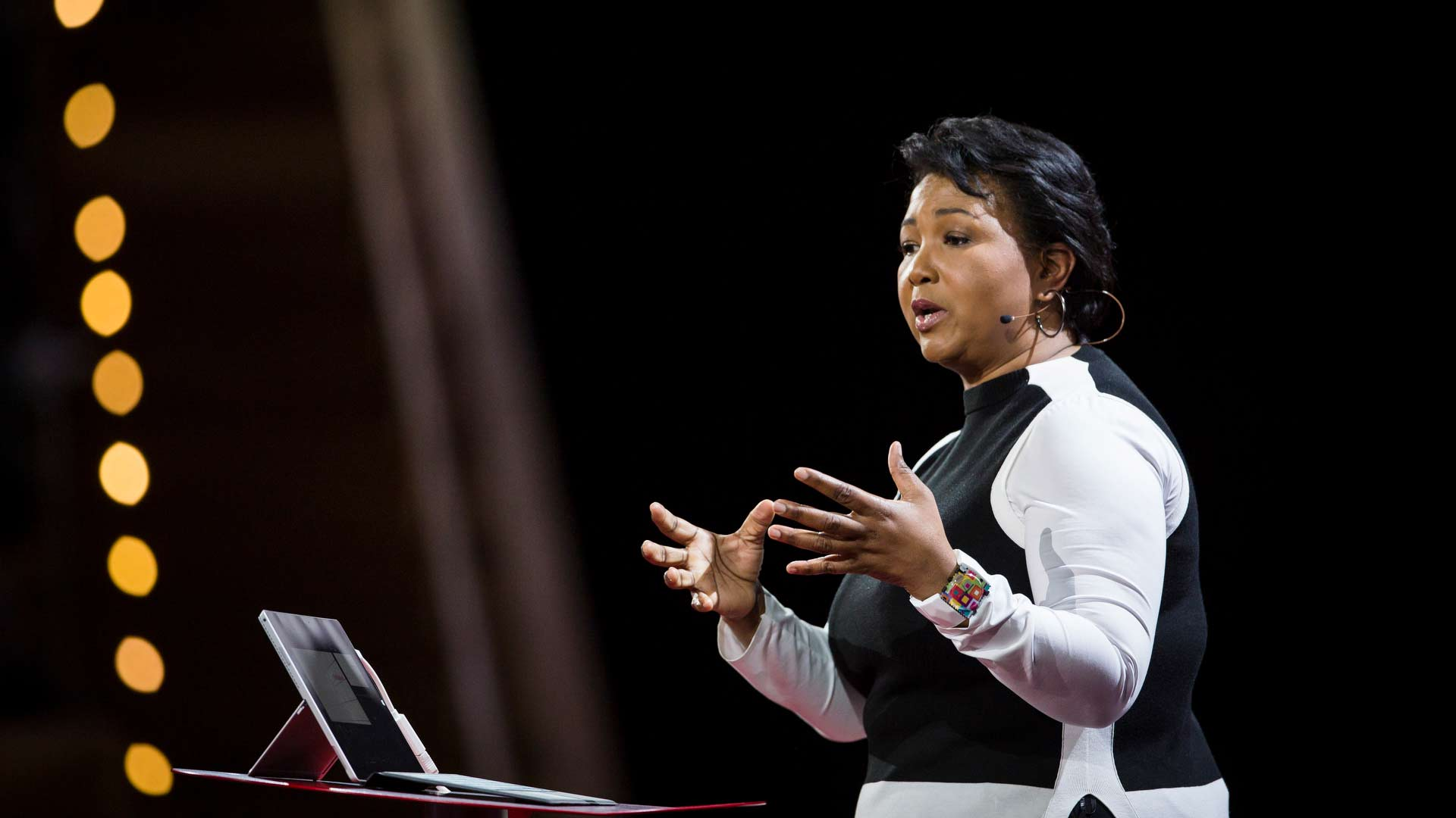 Dr. Mae Jemison speaking at TED2016.