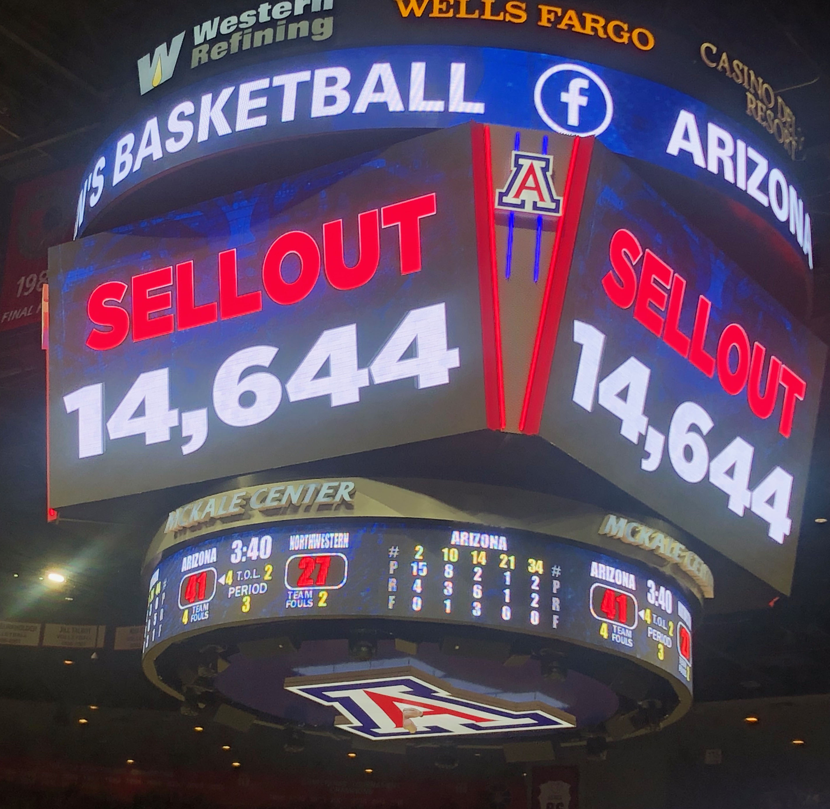 UA Women's basketball WNIT Sold Out