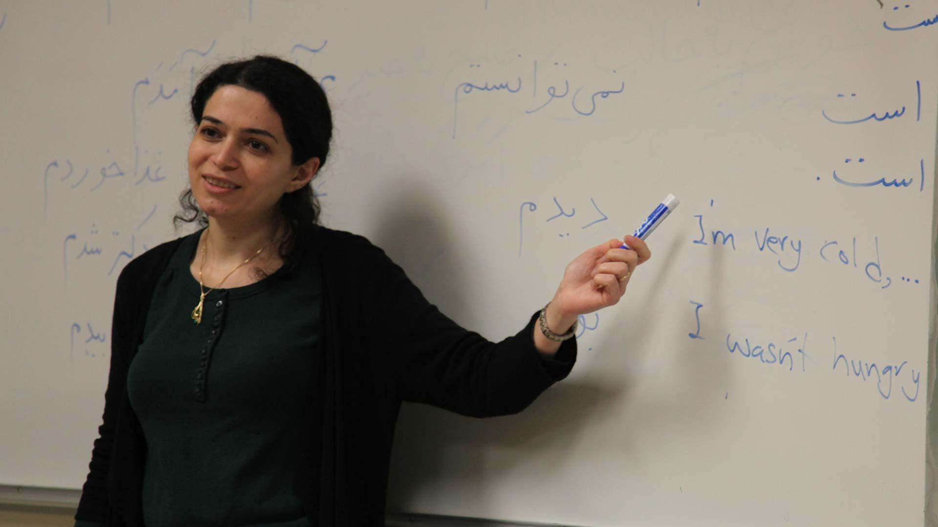 Iran Narges Nematollahi in class