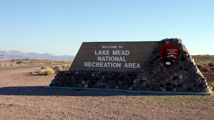 NPS sign Lake mead