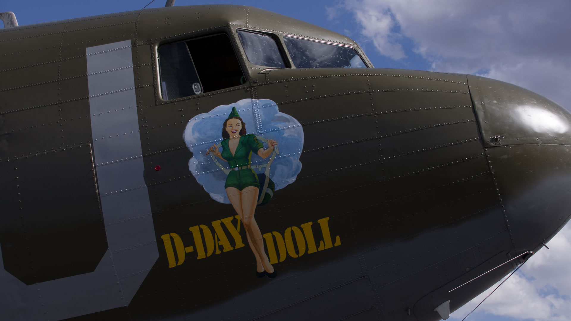 The D-Day Doll WWII plane in Tucson.