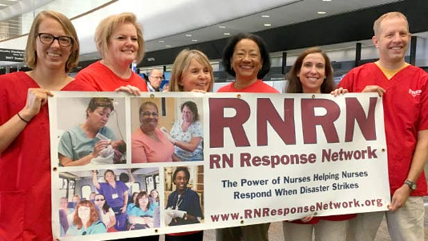 Volunteers with the Registered Nurse Response Network.