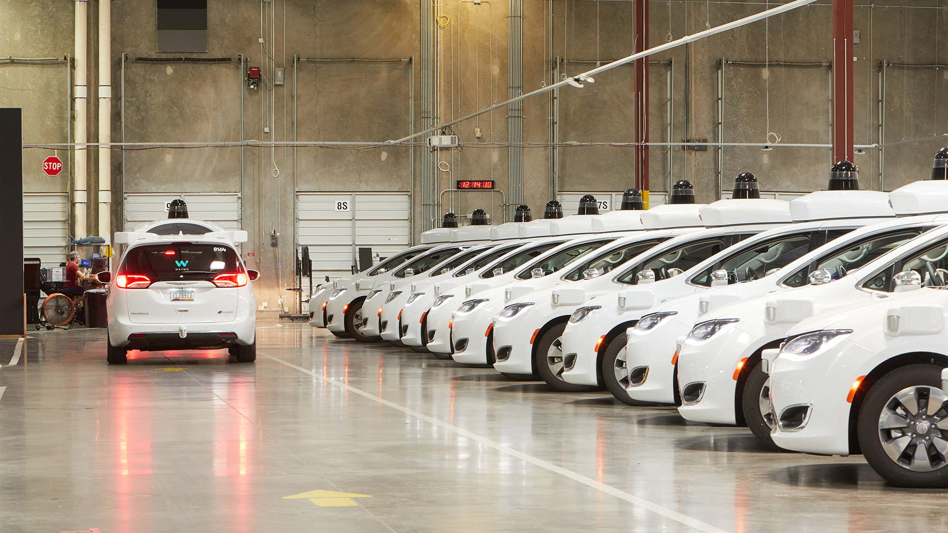Waymo's depot in Chandler, Arizona.