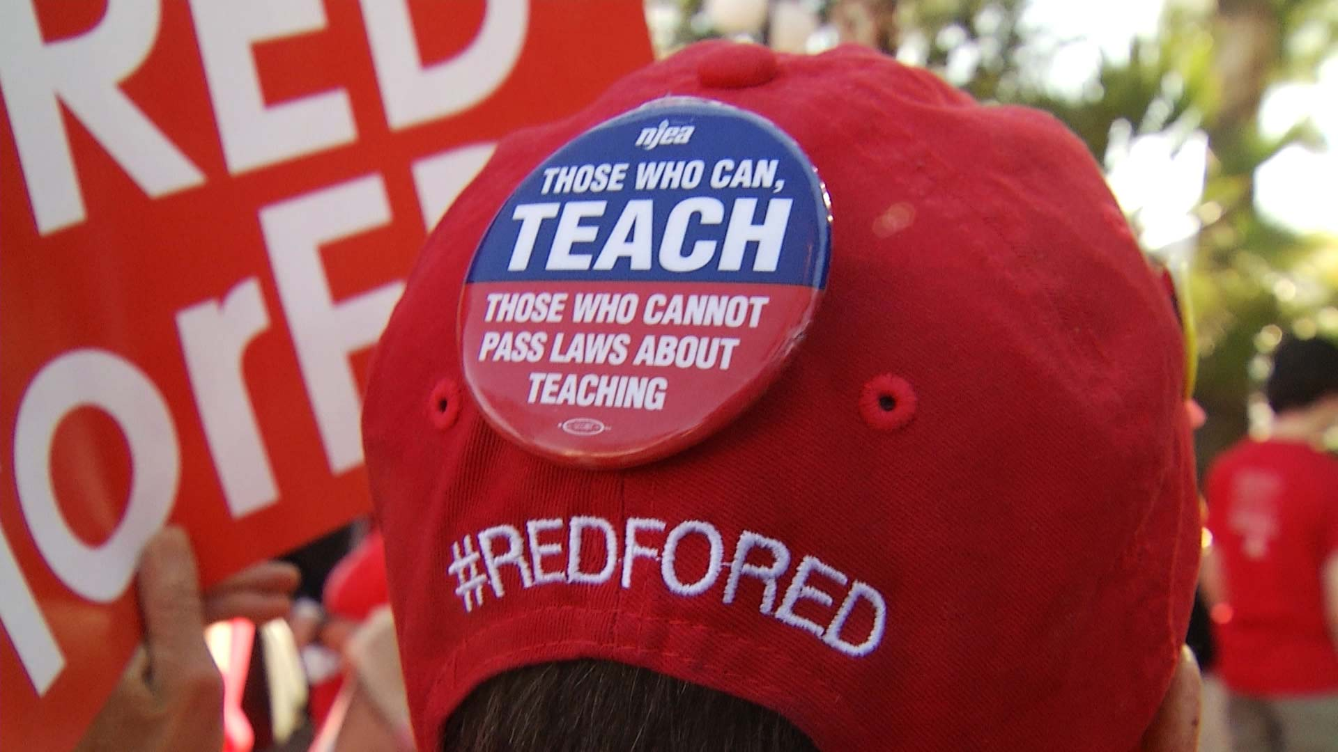Tucson #RedForEd demonstrators in April, 2019.