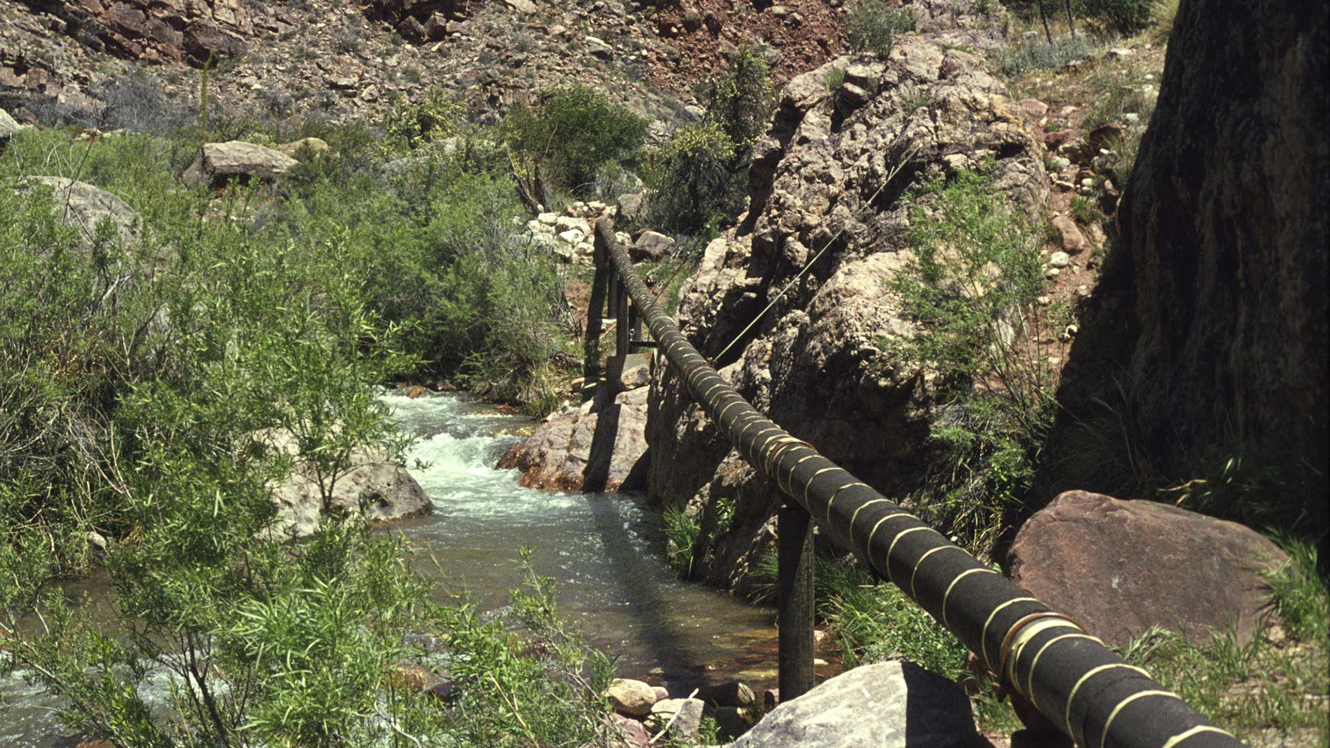 A January 2018 press release photo of the Grand Canyon's transcanyon pipeline.