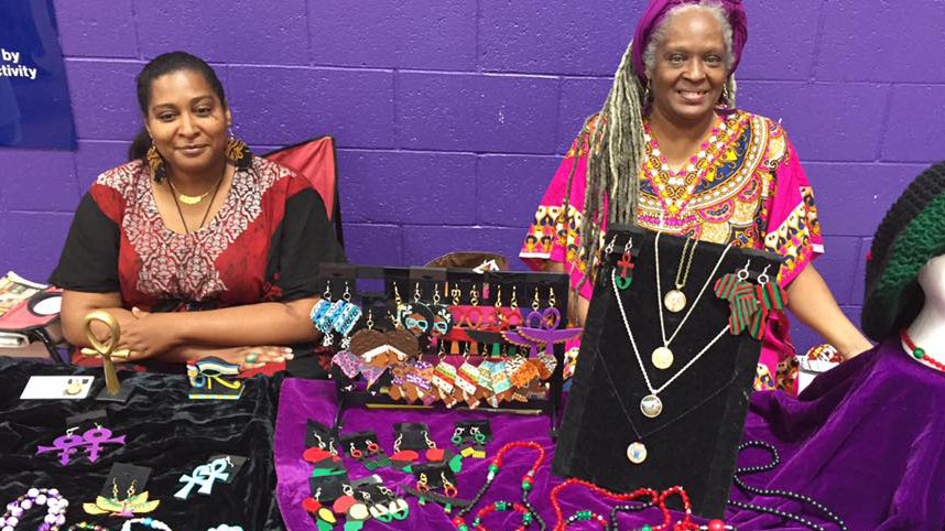 A small sample of the types of jewelry made by local artisans for the annual Tucson Juneteenth Celebration.