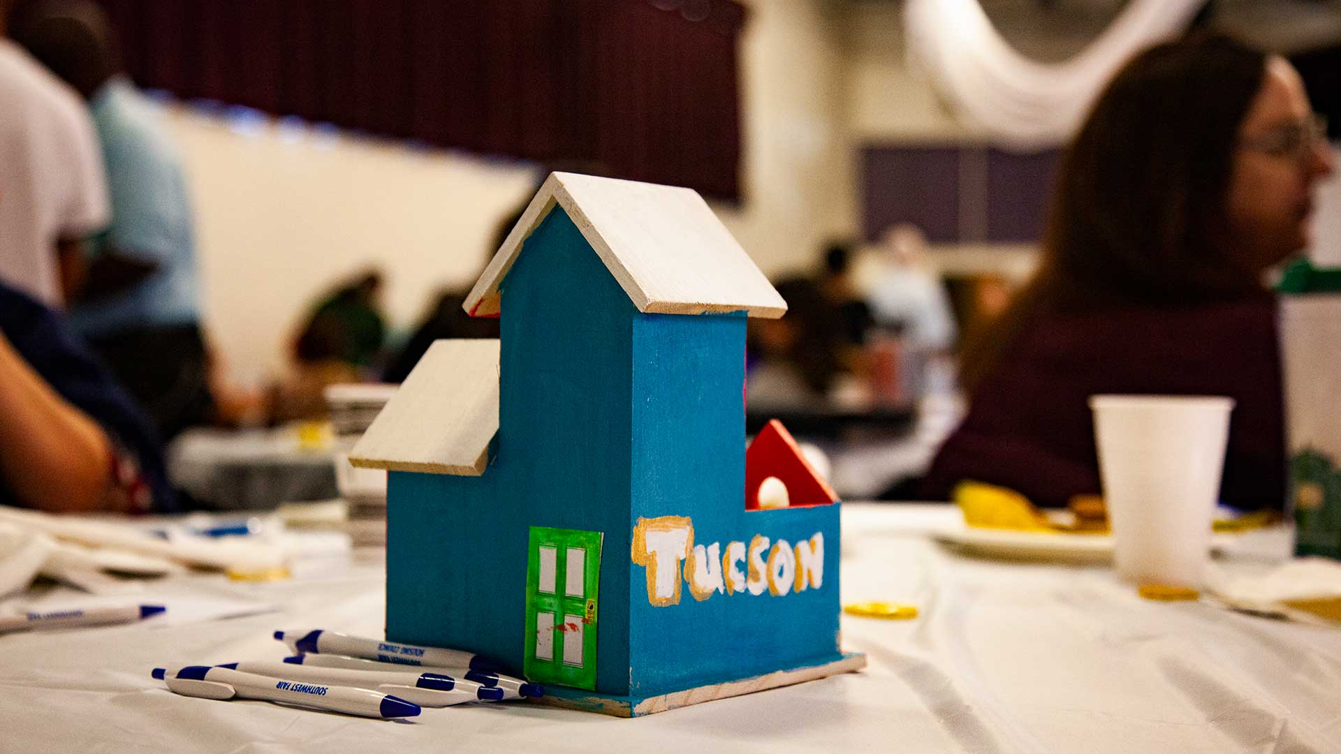 Tables at an event organized by the Southwest Fair Housing Council, October 2018.