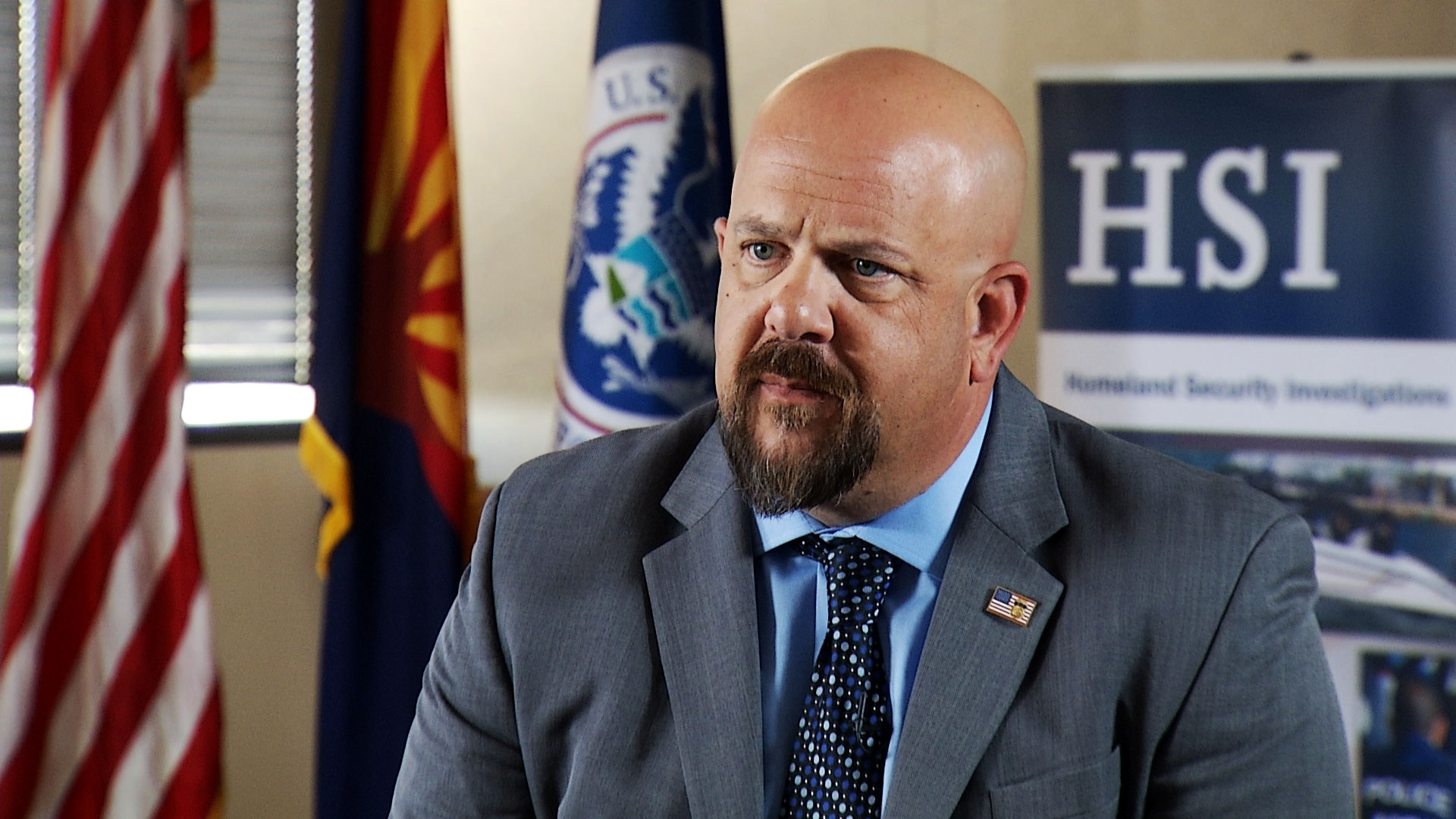 Scott Brown, Special Agent in Charge of Homeland Security Investigations in Arizona, sits for an interview with Arizona 360 at Immigration and Customs Enforcement headquarters in Phoenix on June 17, 2019.