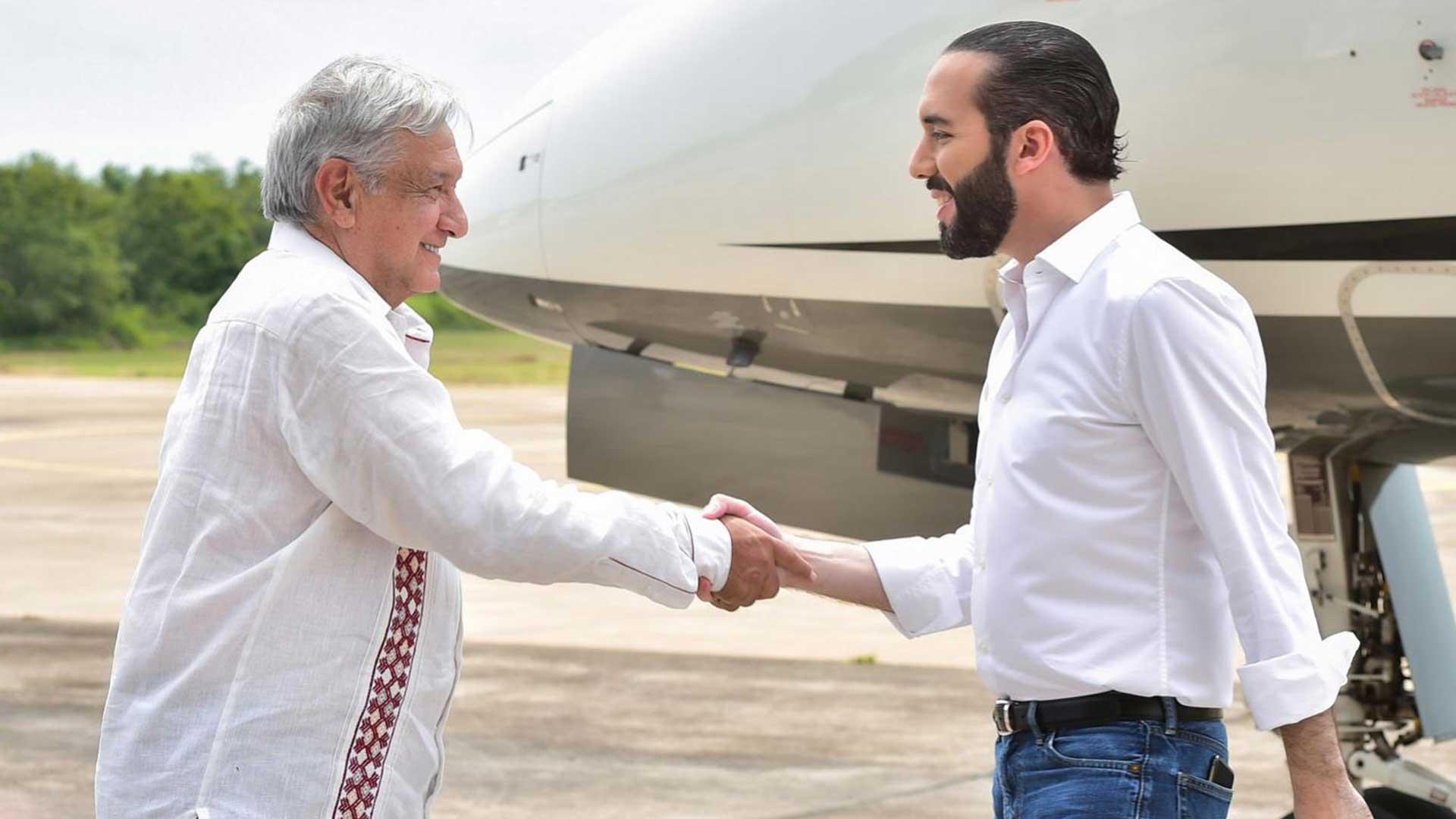 Mexcio President Andrés Manuel López Obrador and El Salvador President Nayib Bukele in Chiapas, Mexico.