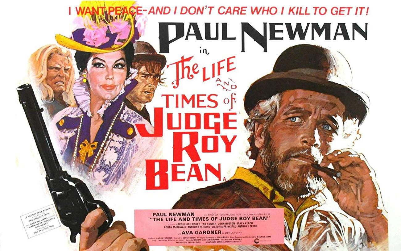 paul newman judge roy bean poster unsized