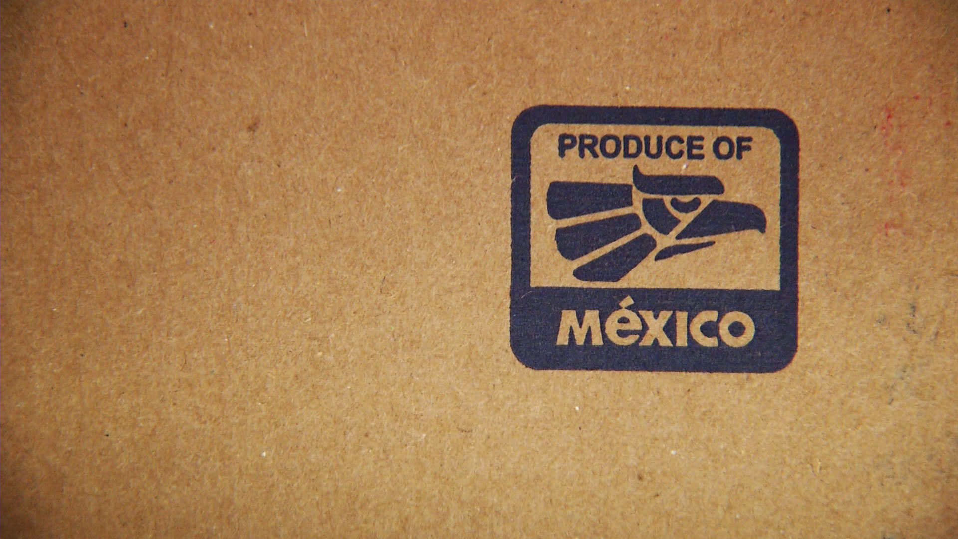 File image of a box of produce from Mexico.