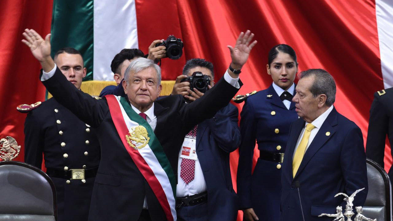 Andrés Manuel López Obrador on the day of his swearing in as President of Mexico.
