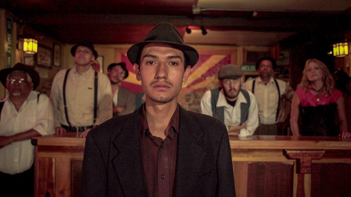 "Some of the contemporary citizens of Bisbee, Arizona who participated in a dramatic re-enactment of the 1917 Bisbee Deportation for the film ""Bisbee '17"", directed by Robert Greene."