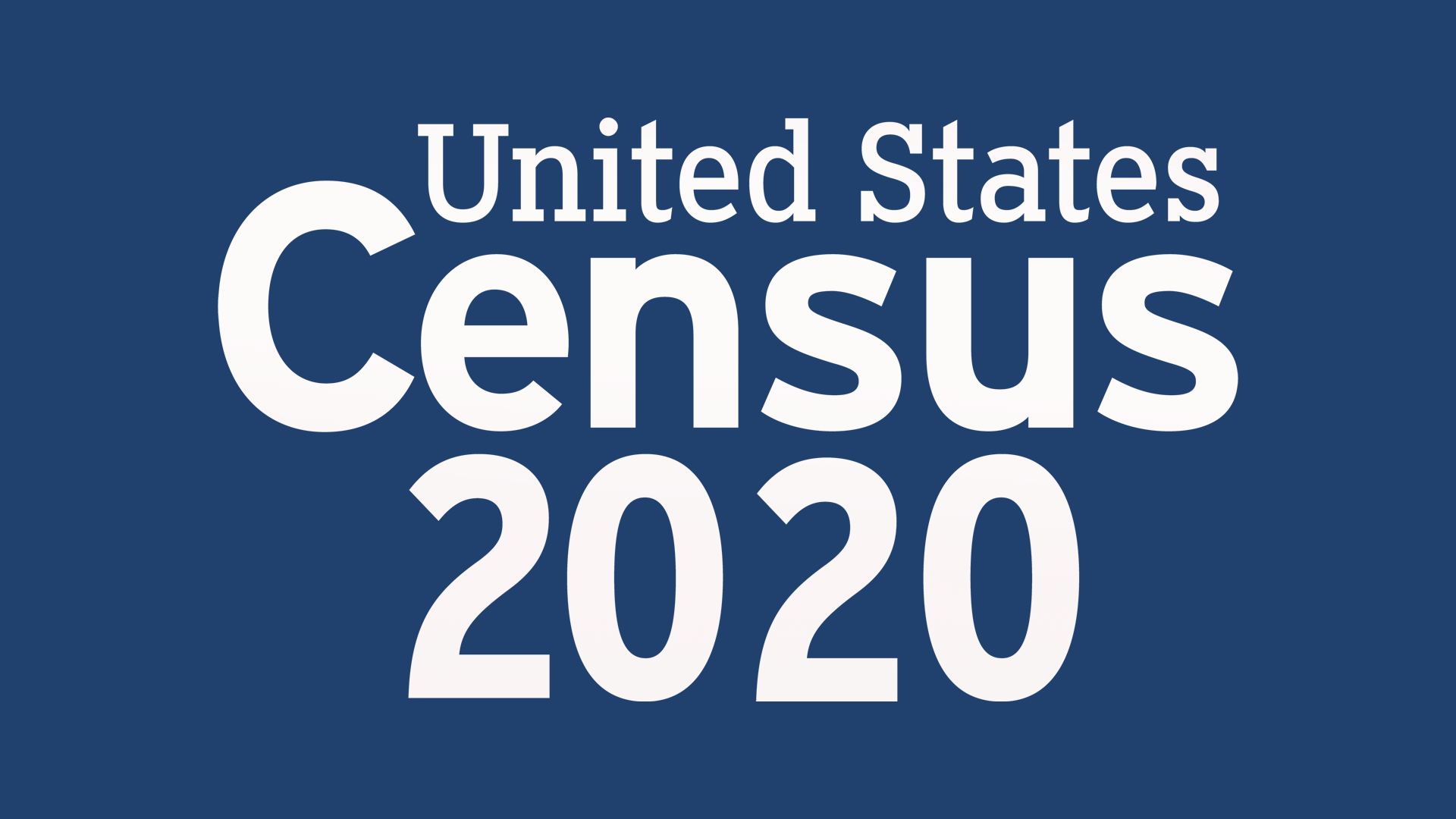 The logo for the United States Census 2020.