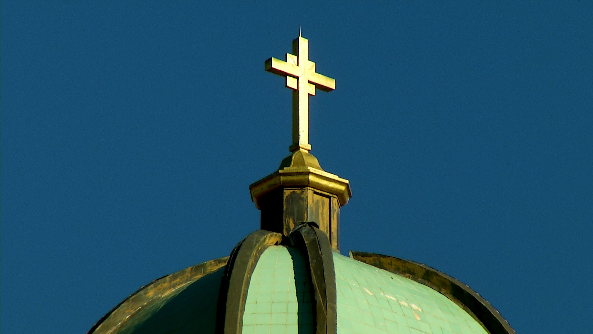 A cross atop the Benedictine Monastery in Tucson.