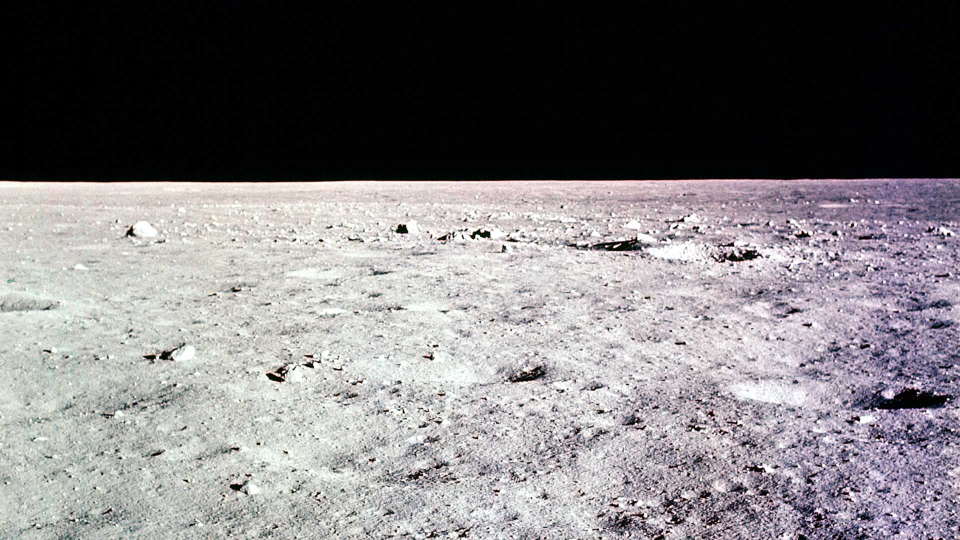 Photo taken shortly before Apollo 11 landed on the moon's surface, July 20, 1969.