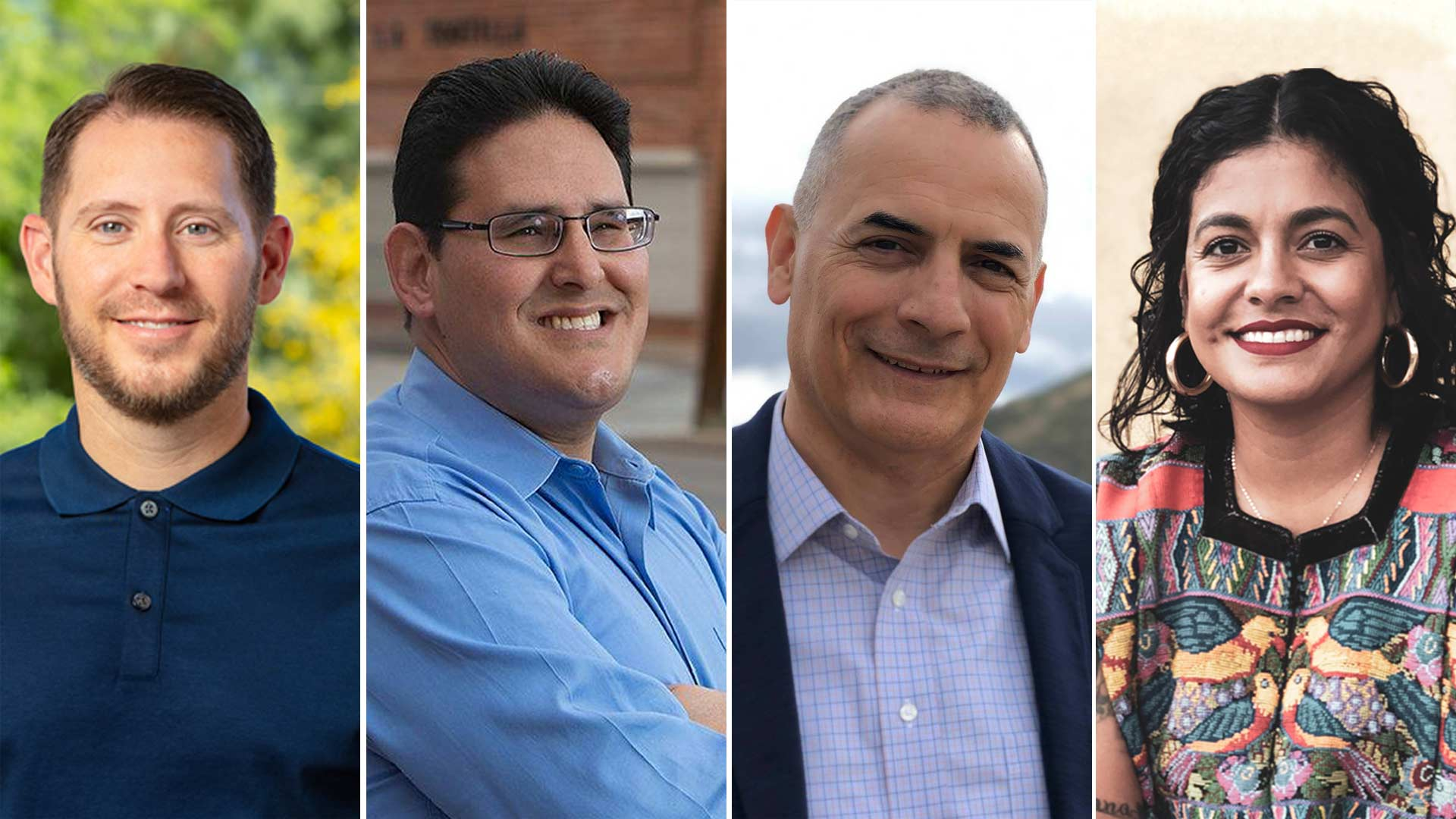 Tucson 2019 Ward 1 Democratic candidates. From left, Rob Elias, Sami Hamed, Miguel Ortega and Lane Santa Cruz.