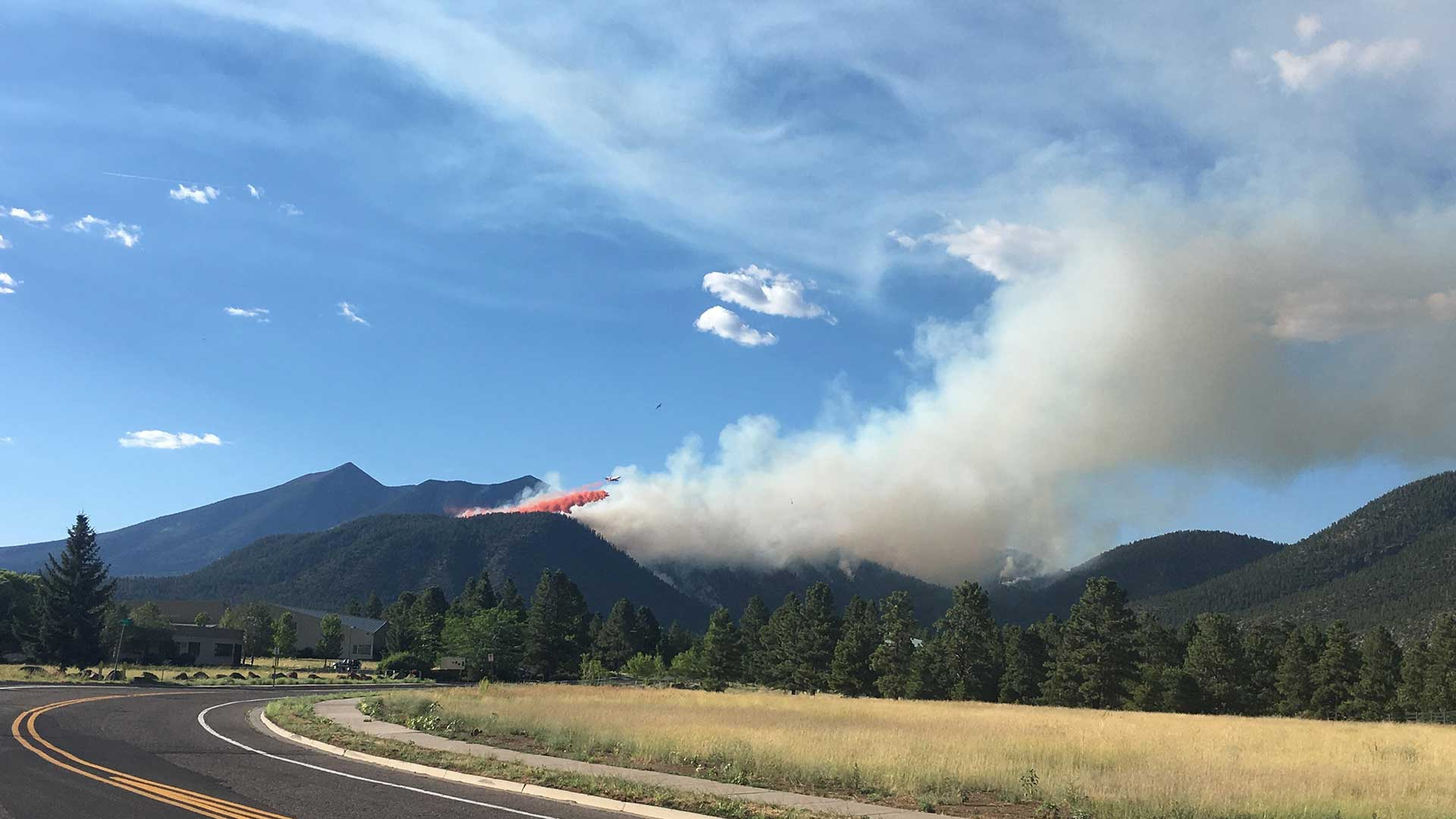 A photo of the Museum Fire, burning near Flagstaff, taken Sunday, July 21, 2019 posted on theNational Wildfire Coordinating Group's inciweb site.