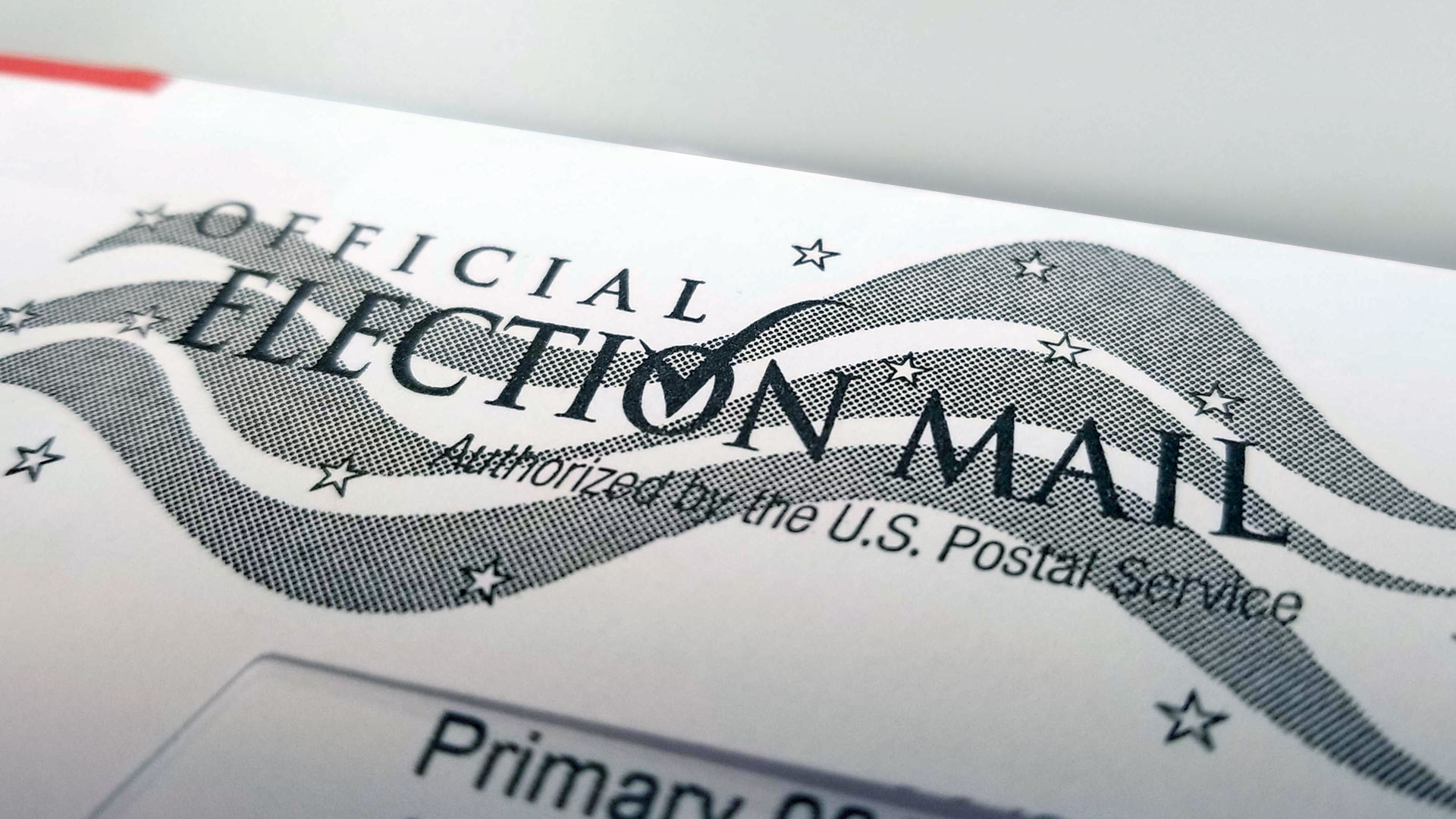 An envelope containing a ballot for an Aug. 27, 2019 primary election in the city of Tucson.