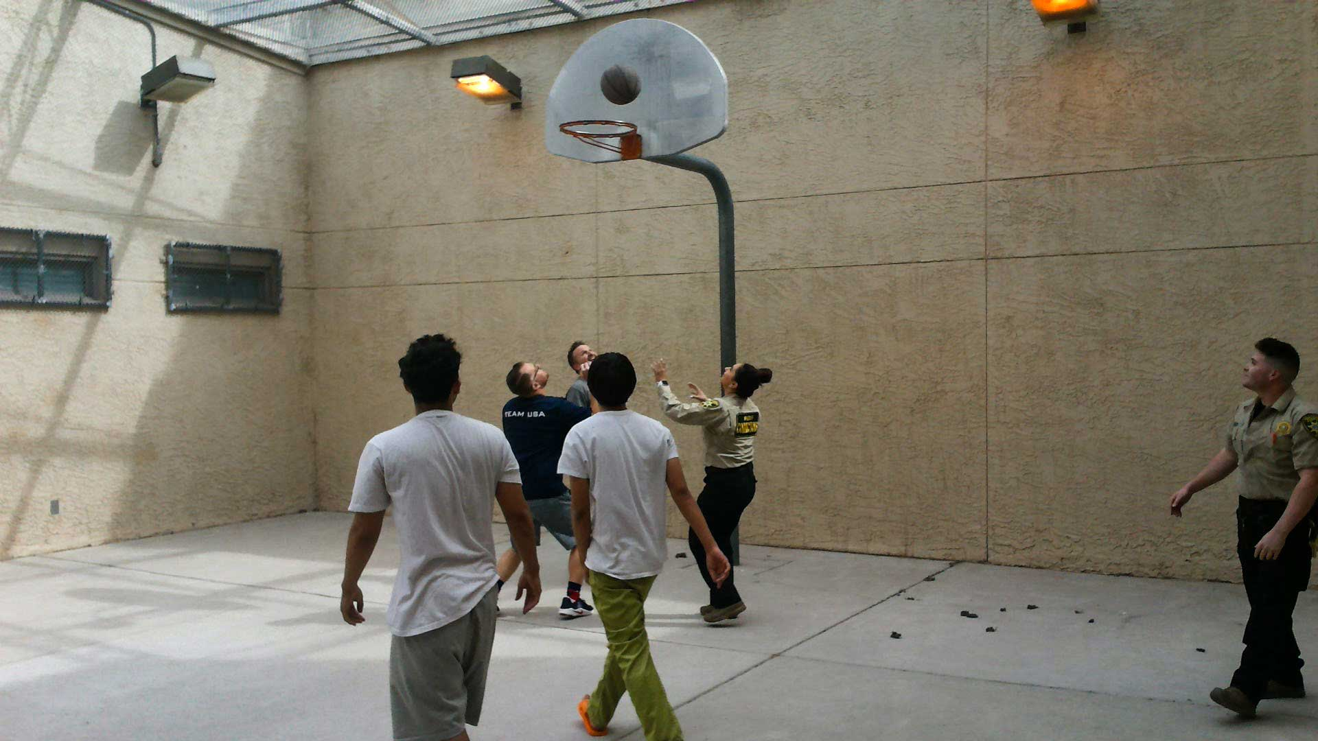 Basketball at the Pima County Jail.