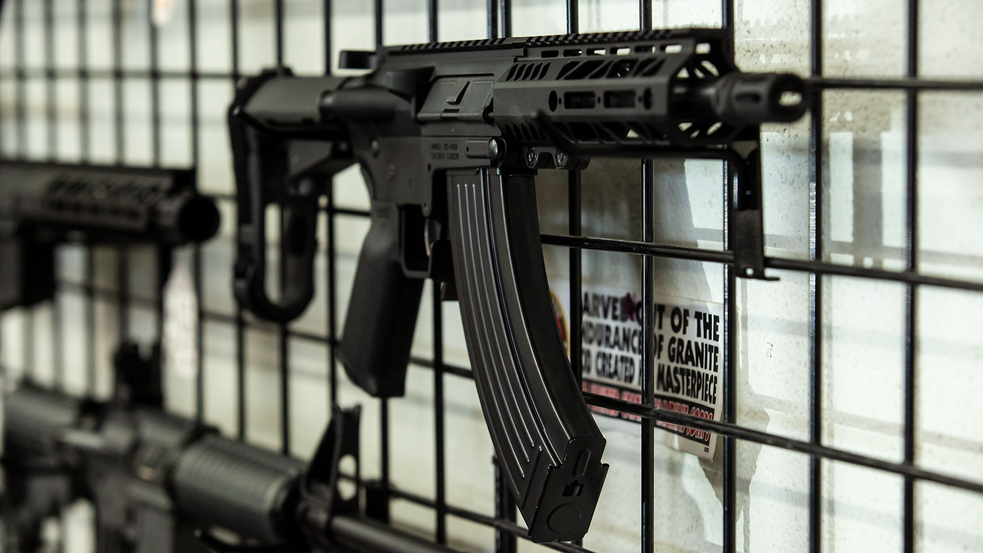 Assault-style weapons for sale at R & A Tactical in Tucson, Aug. 22, 2019