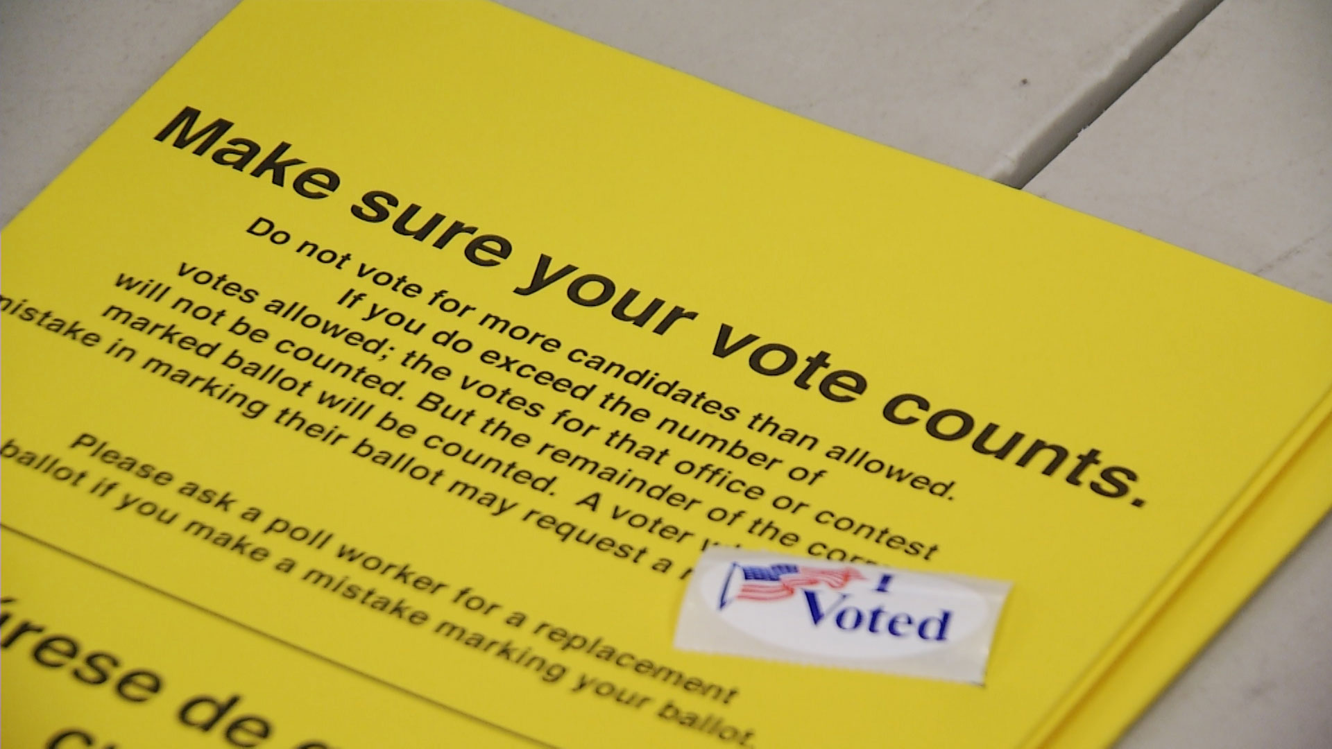 File image of a voting flyer in Pima County.