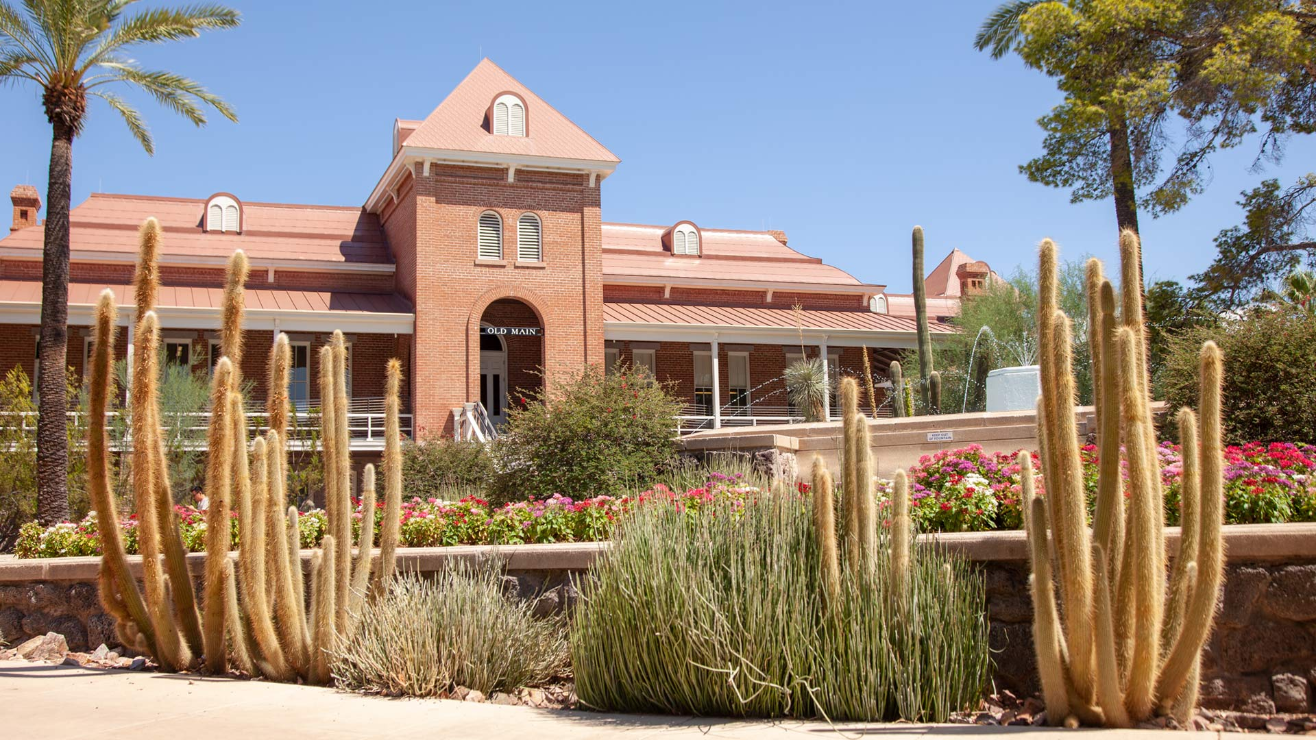 Old Main on the campus of the University of Arizona, August 2019.