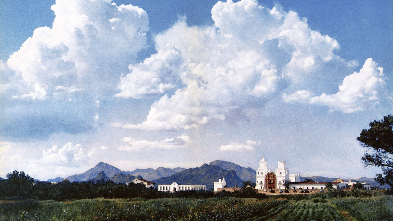 San Xavier del Bac, photographed by Ray Manley.