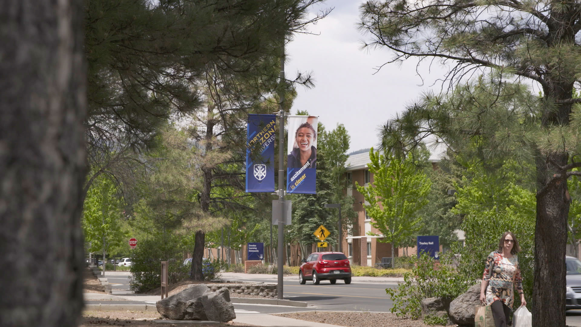 The Northern Arizona University campus in Flagstaff, Arizona.
