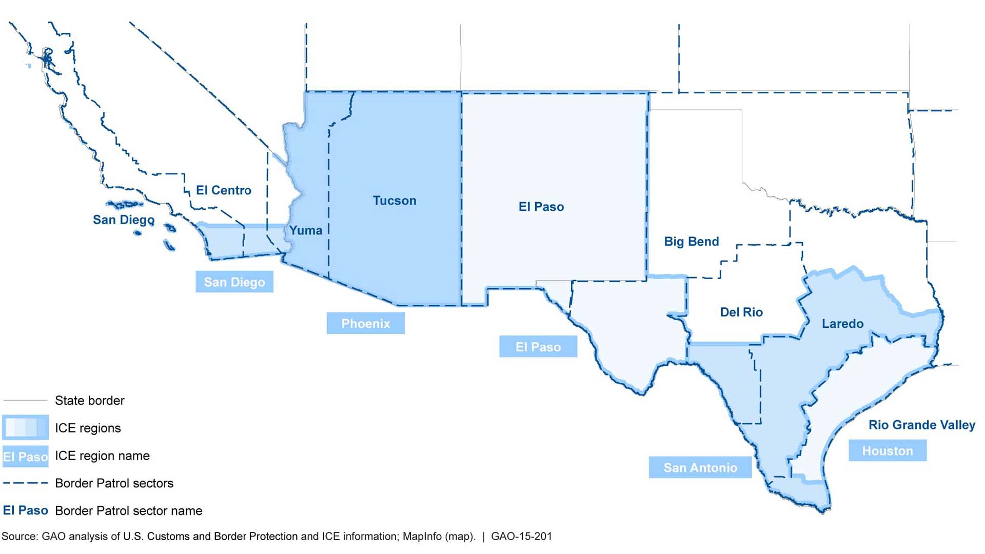 Border patrol sector map