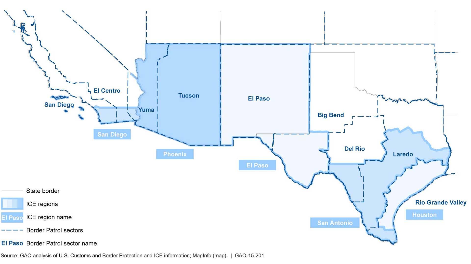 Border patrol sector map