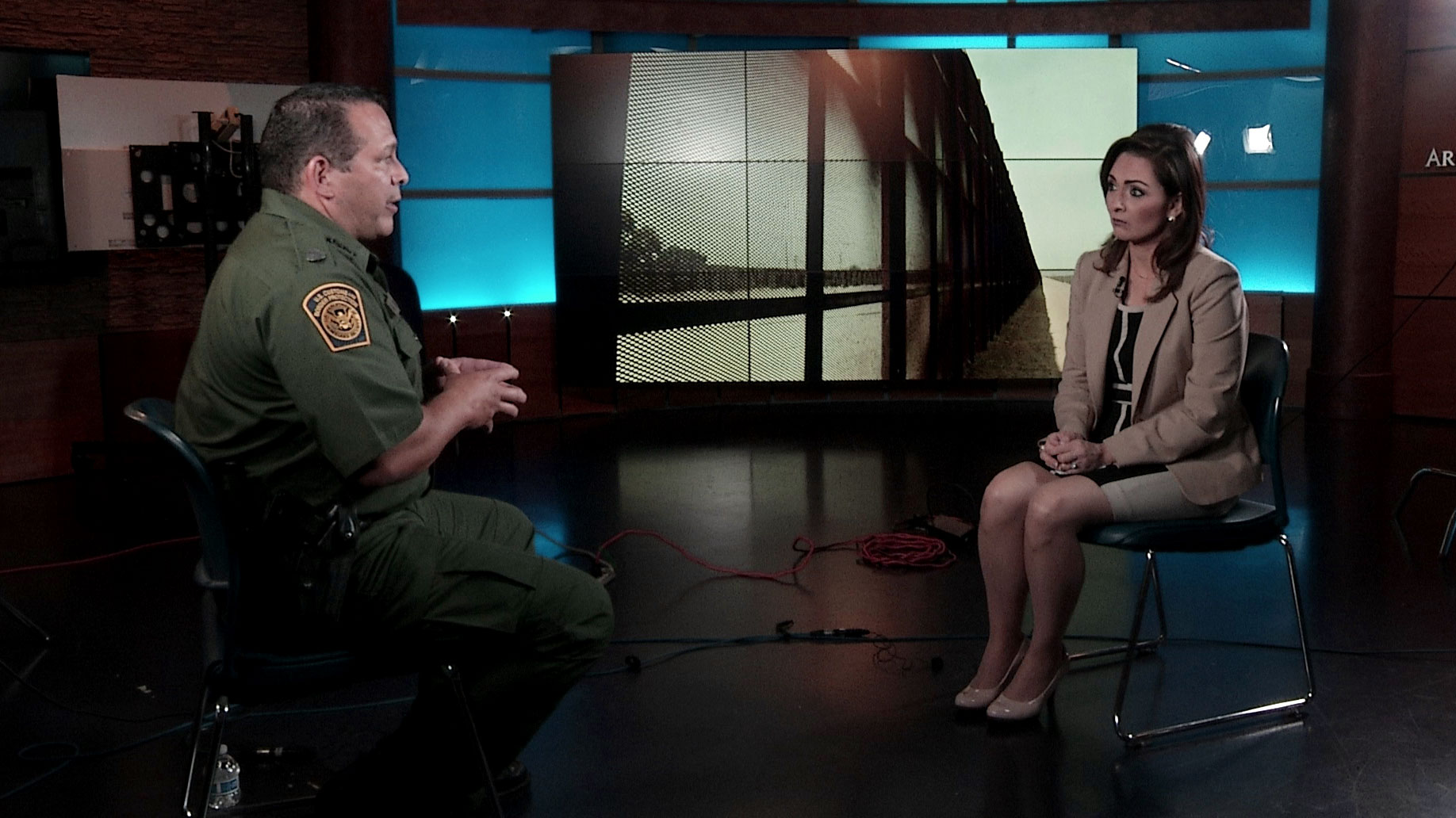 Tucson Sector Border Patrol Chief Roy Villareal sits for an interview with Arizona 360 host Lorraine Rivera at Arizona Public Media on September 11, 2019.