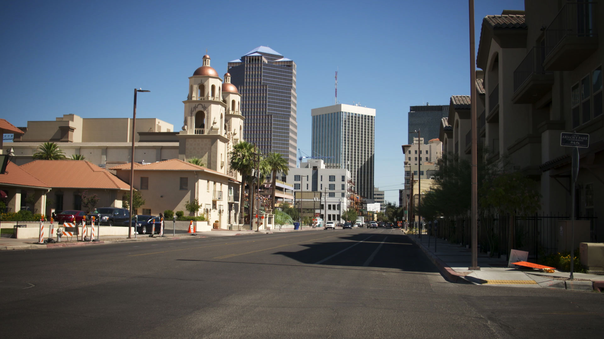 Downtown Tucson viewed from South Stone Avenue.