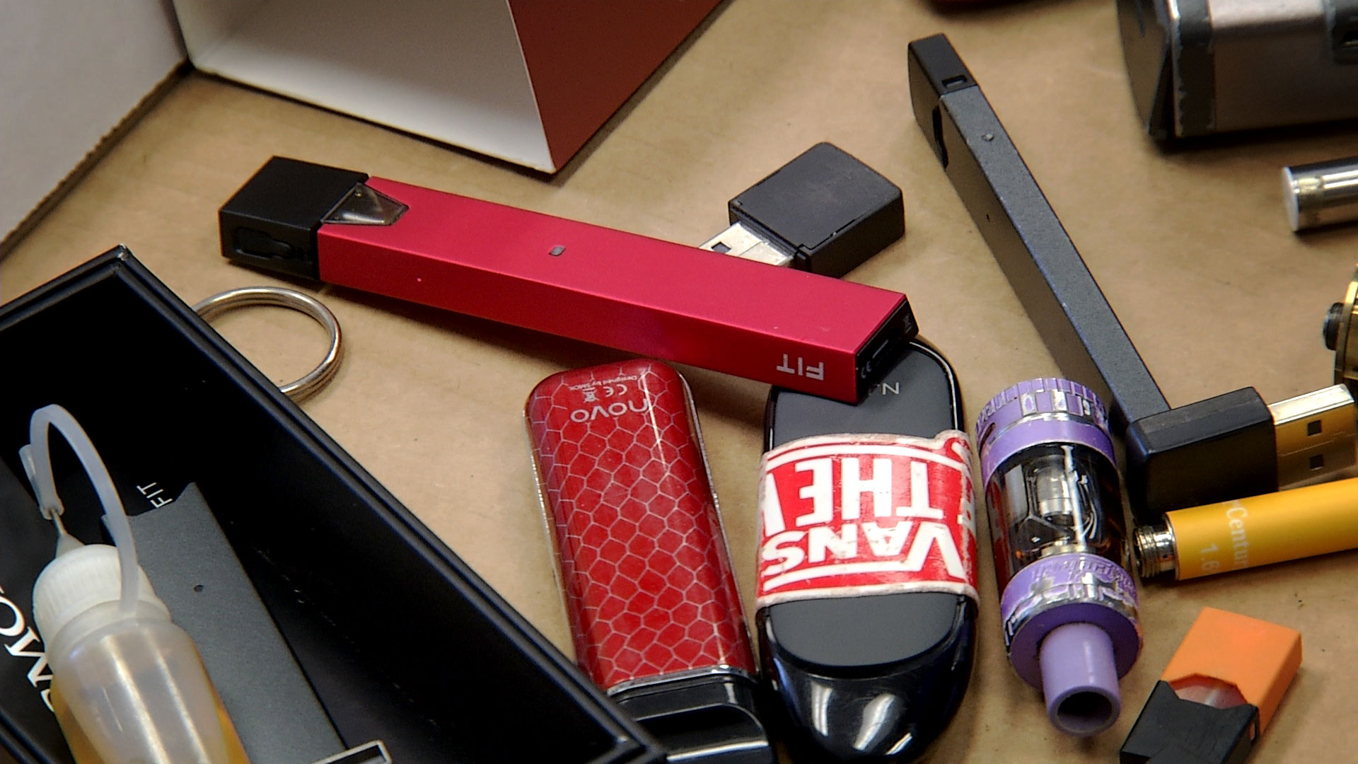 Vaping devices and materials confiscated from students at Marana High School.