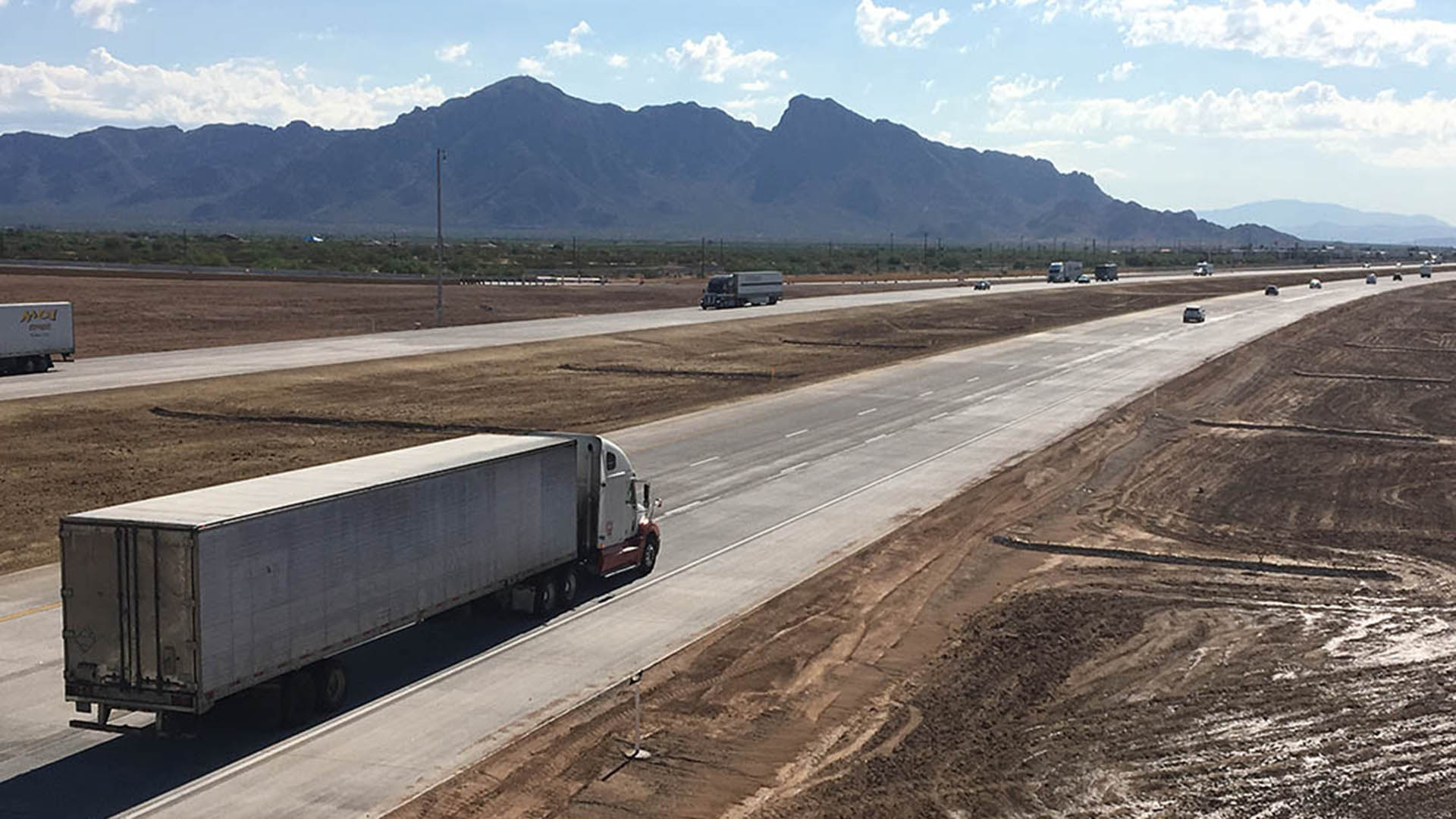 Interstate 10 near Eloy, now three lanes both directions.