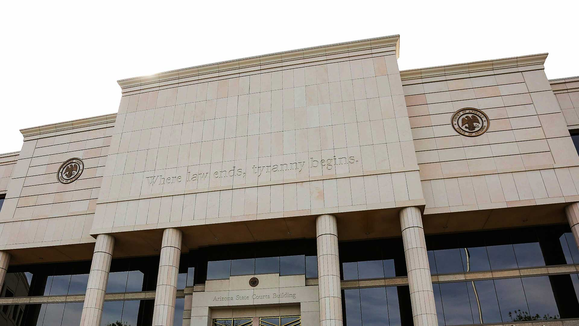 A news release photo of the Arizona State Courts Building, in Phoenix.