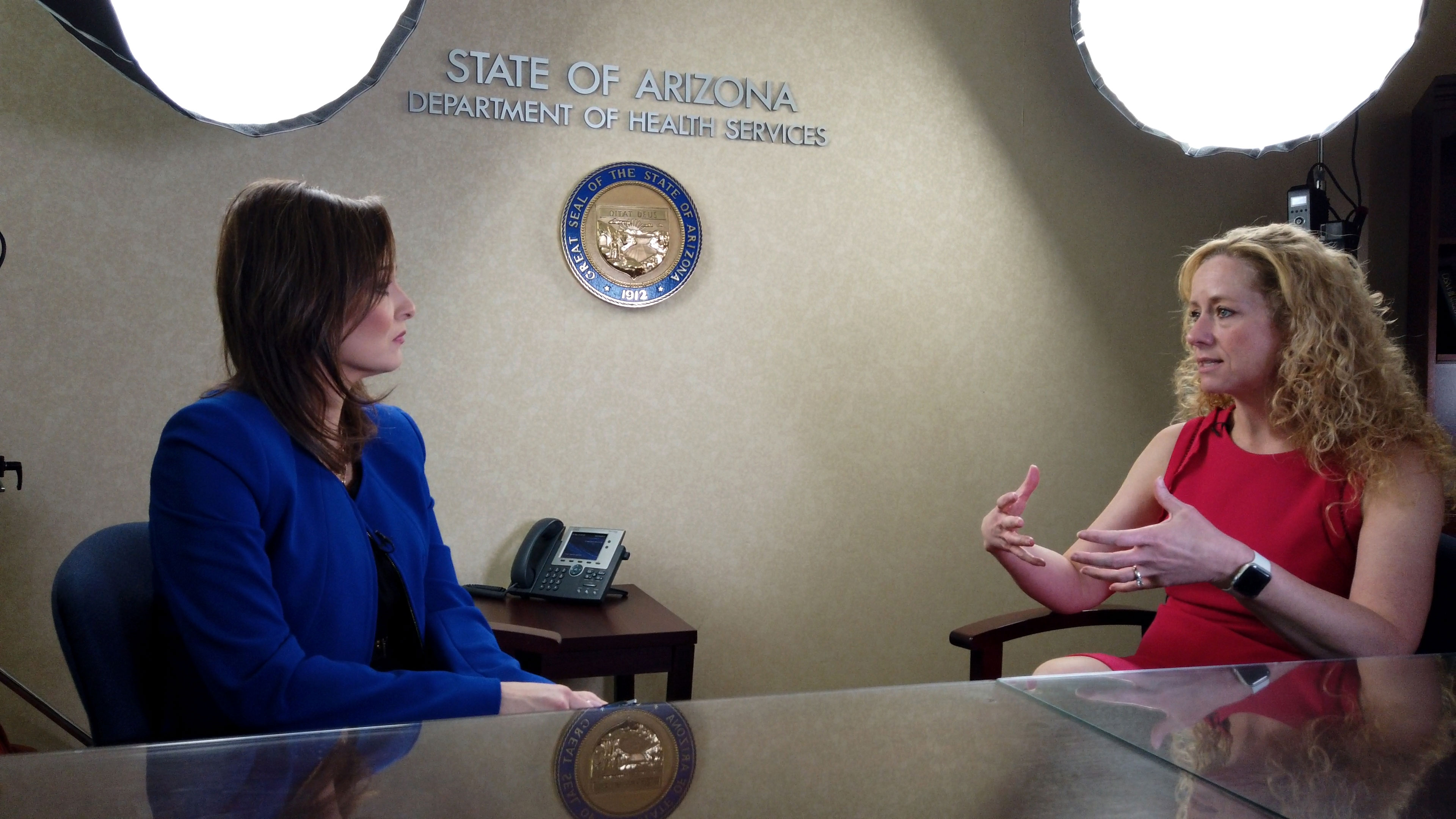 Arizona 360 host Lorraine Rivera interviews Arizona Department of Health Services Director Cara Christ on Jan. 7, 2020.