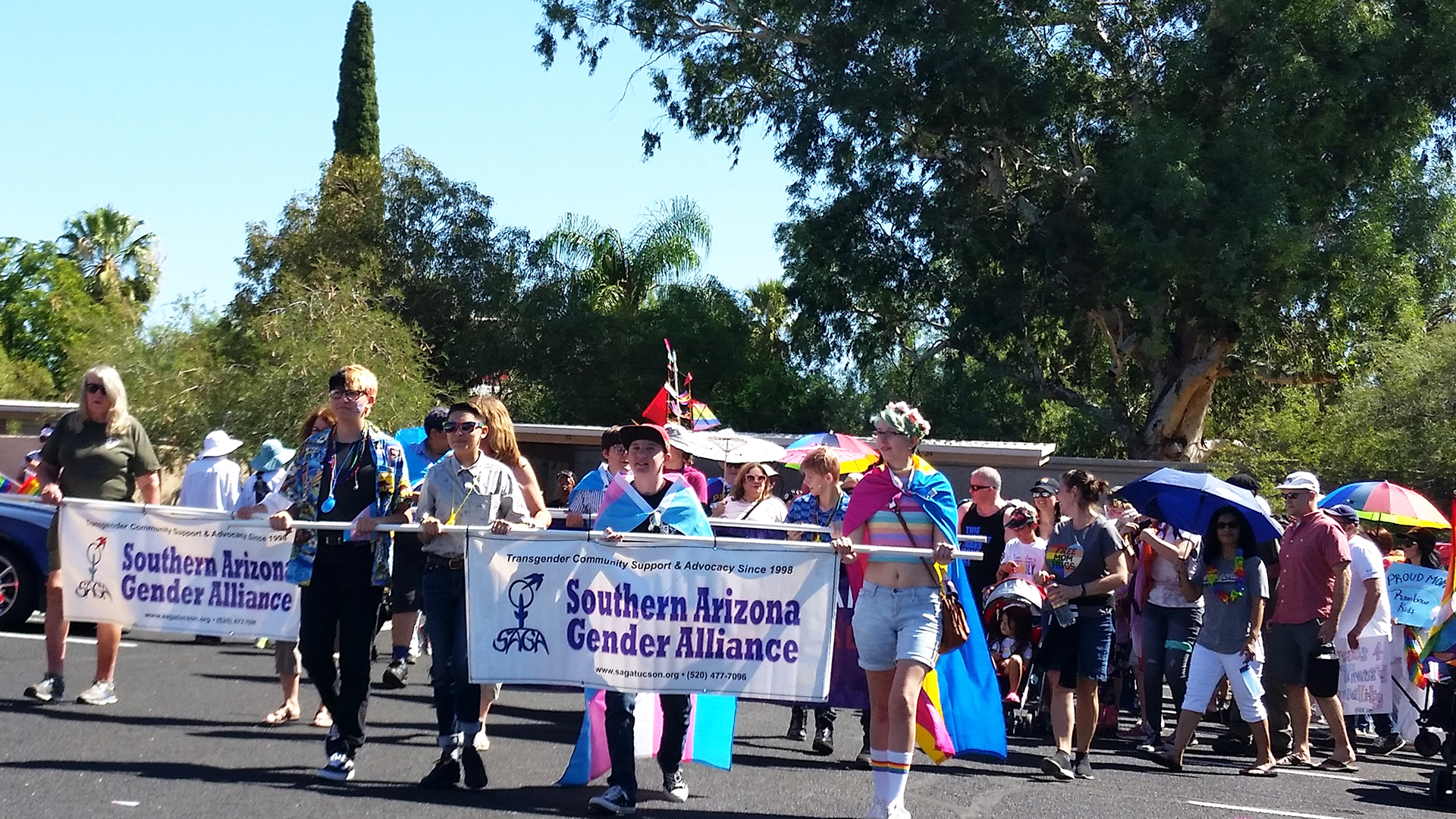 Tucson's Pride celebration includes transgender youth from preschool through high school as well as their families and friends.