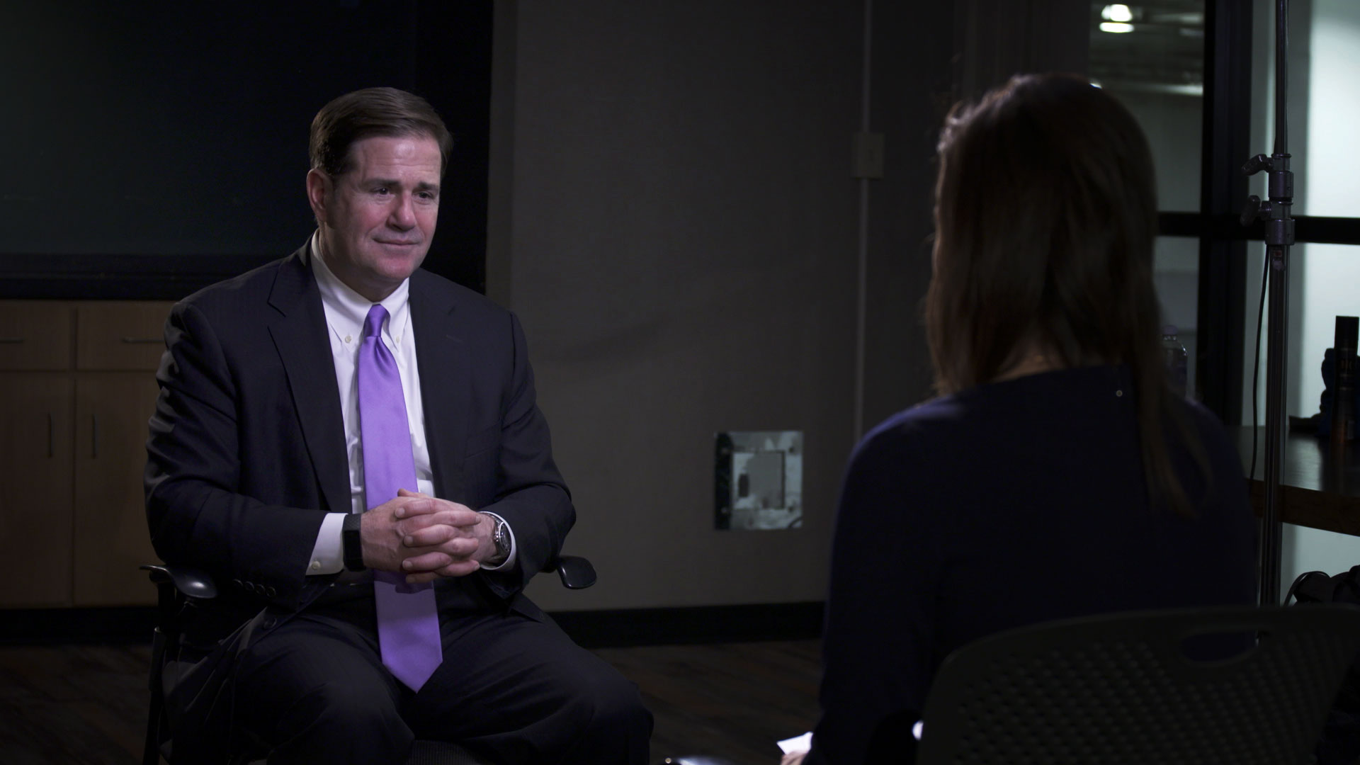 Gov. Doug Ducey sits for an interview with Arizona 360 host Lorraine Rivera on Jan 14, 2020.