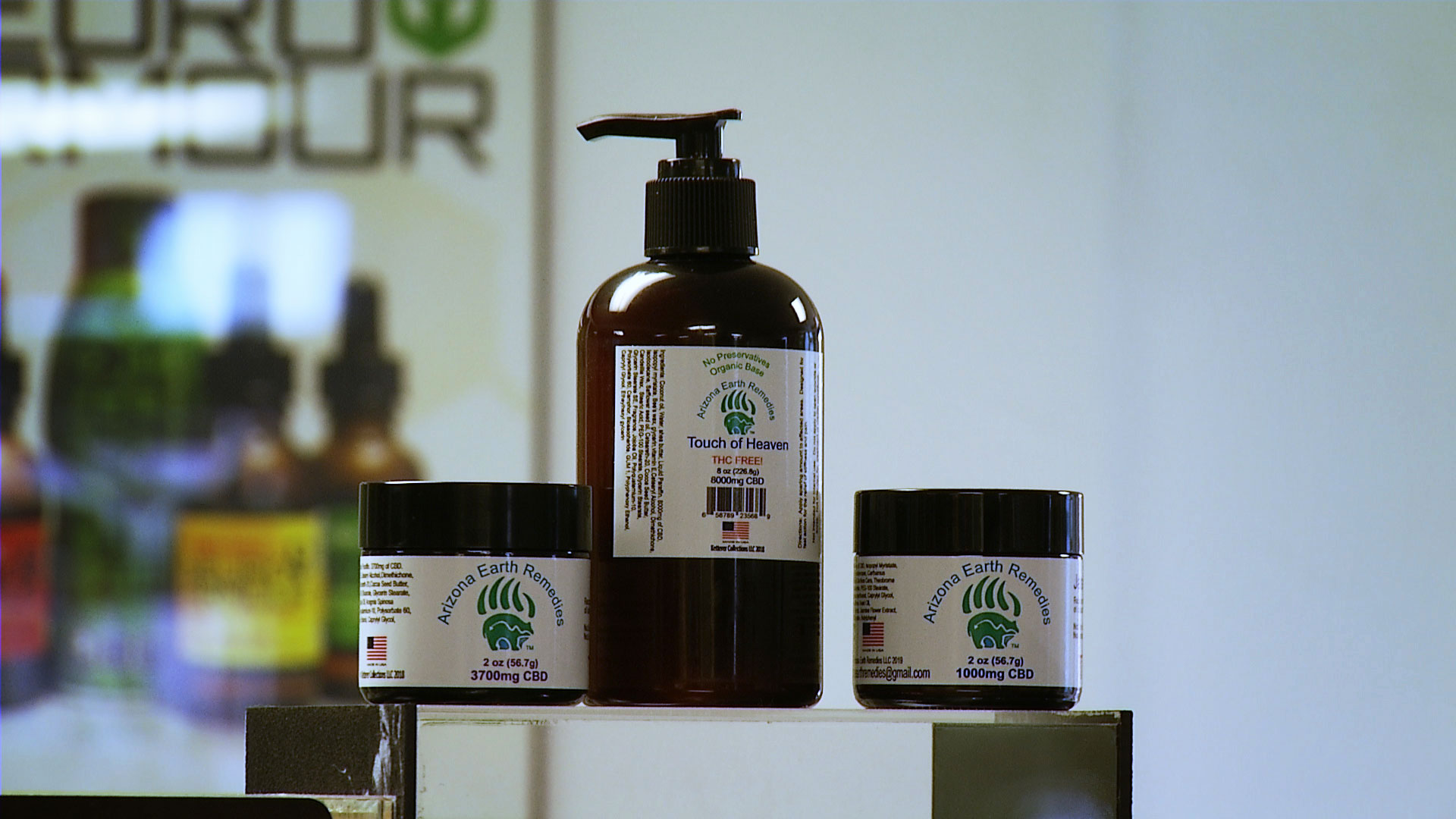Different products infused with CBD, or cannabidiol.