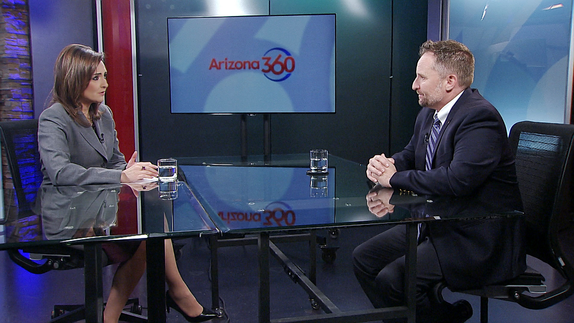 Pima County Superintendent of Schools Dustin Williams sits for an interview with Arizona 360 host Lorraine Rivera on Jan. 24, 2020.
