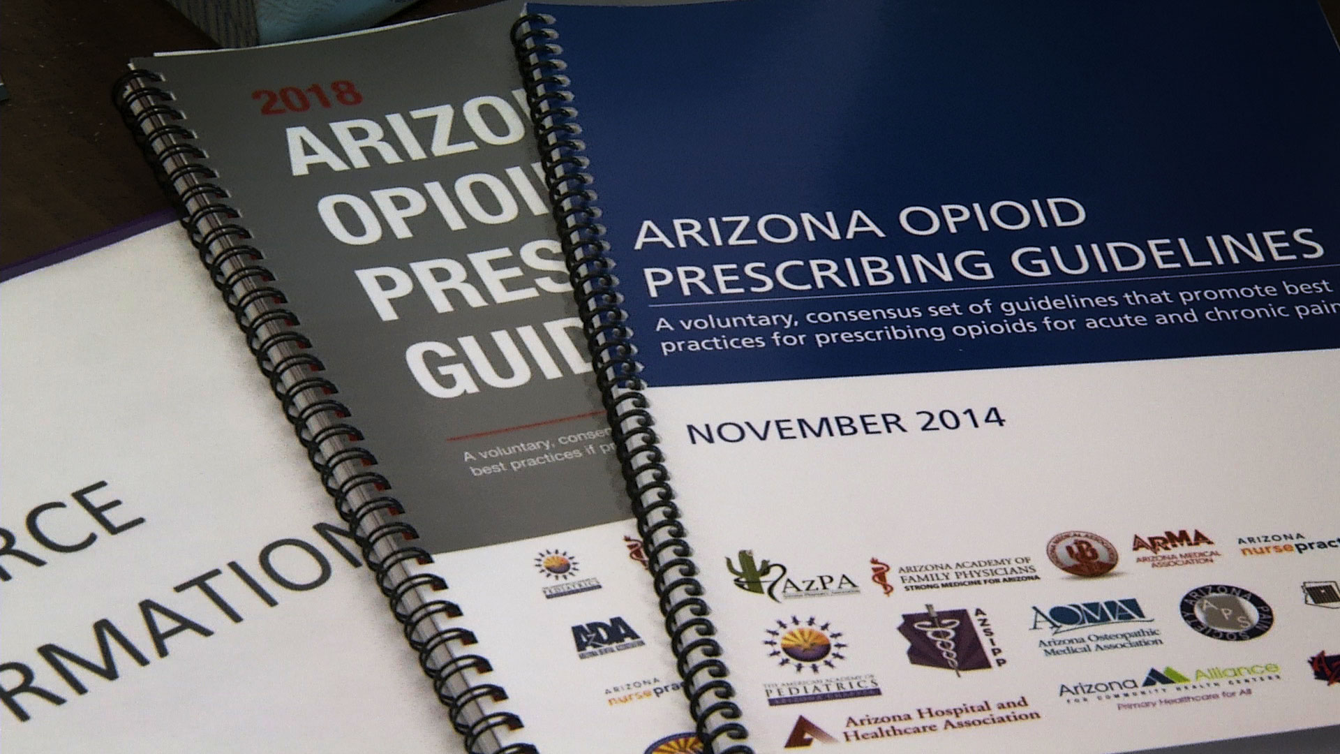 Manuals detailing Arizona's prescribing guidelines for opioids.