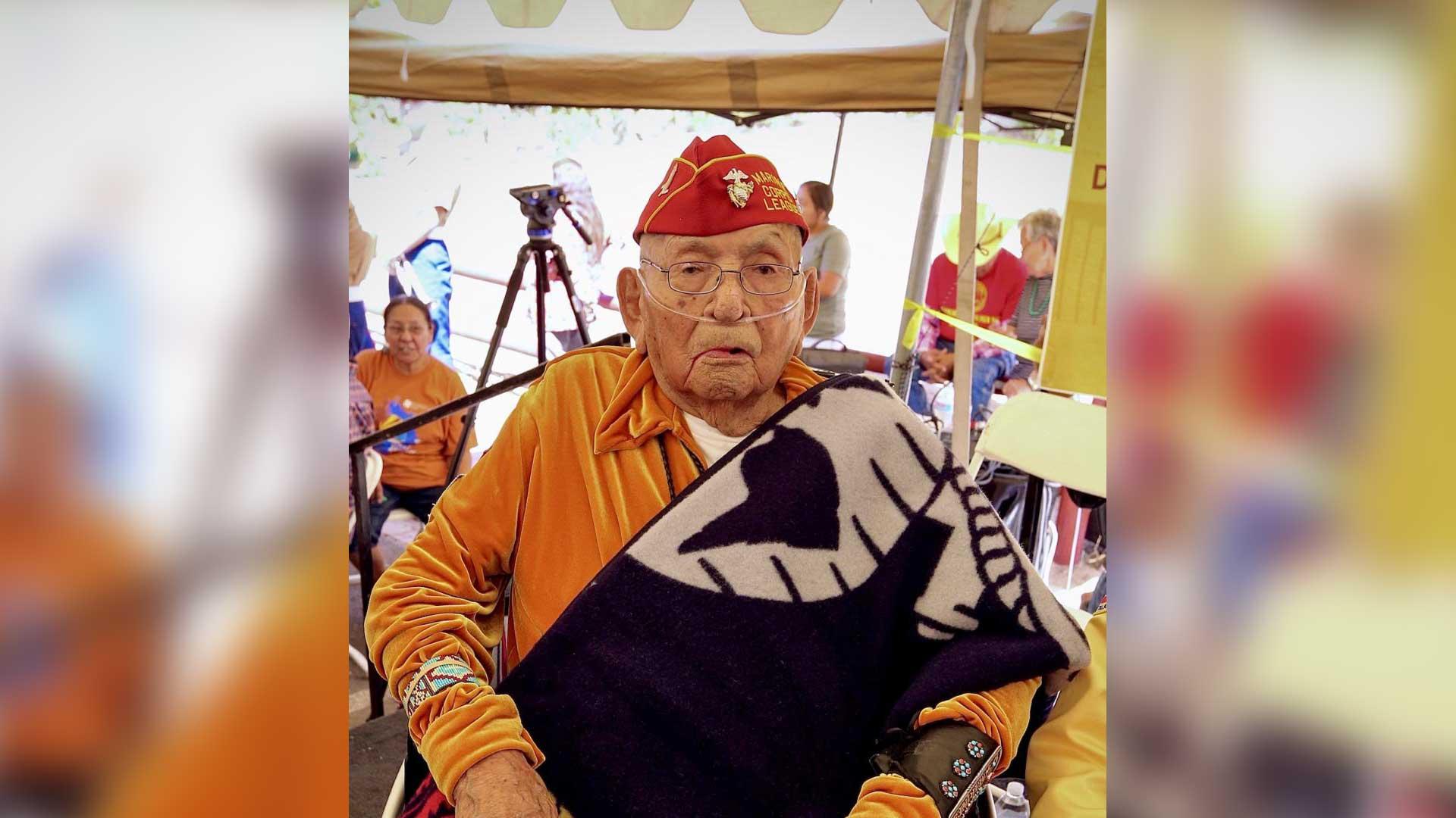 Navajo Code Talker Joe Vandever.
