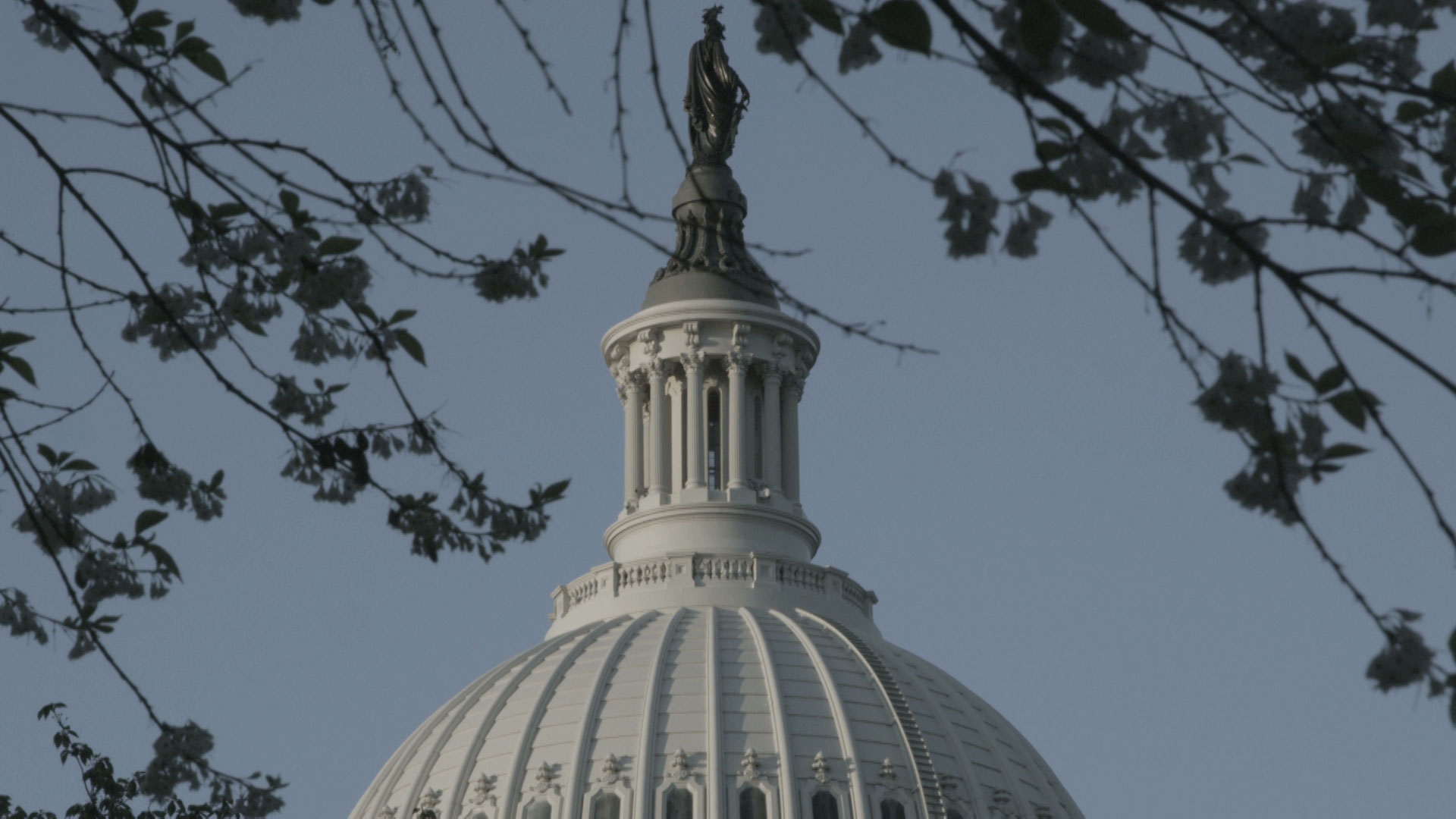 A close up of the dome on the U.S. Capitol.