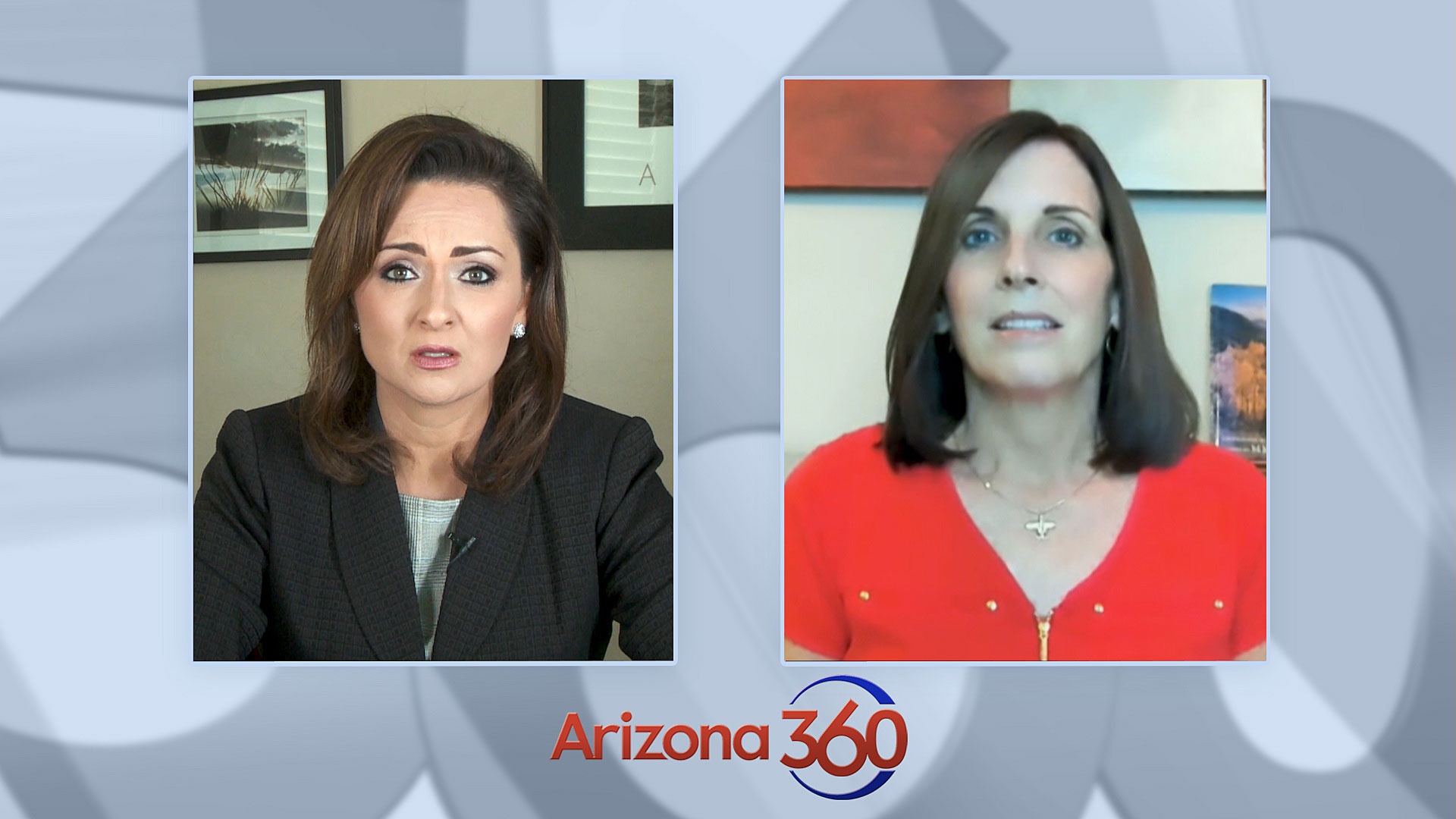 Arizona 360 host Lorraine Rivera interviews Republican Sen. Martha McSally on Sept. 28, 2020.