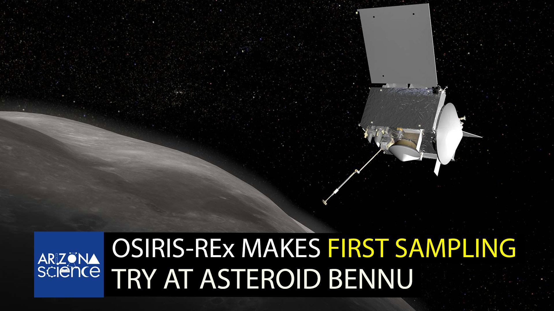 OSIRIS-REx in orbit around Bennu
