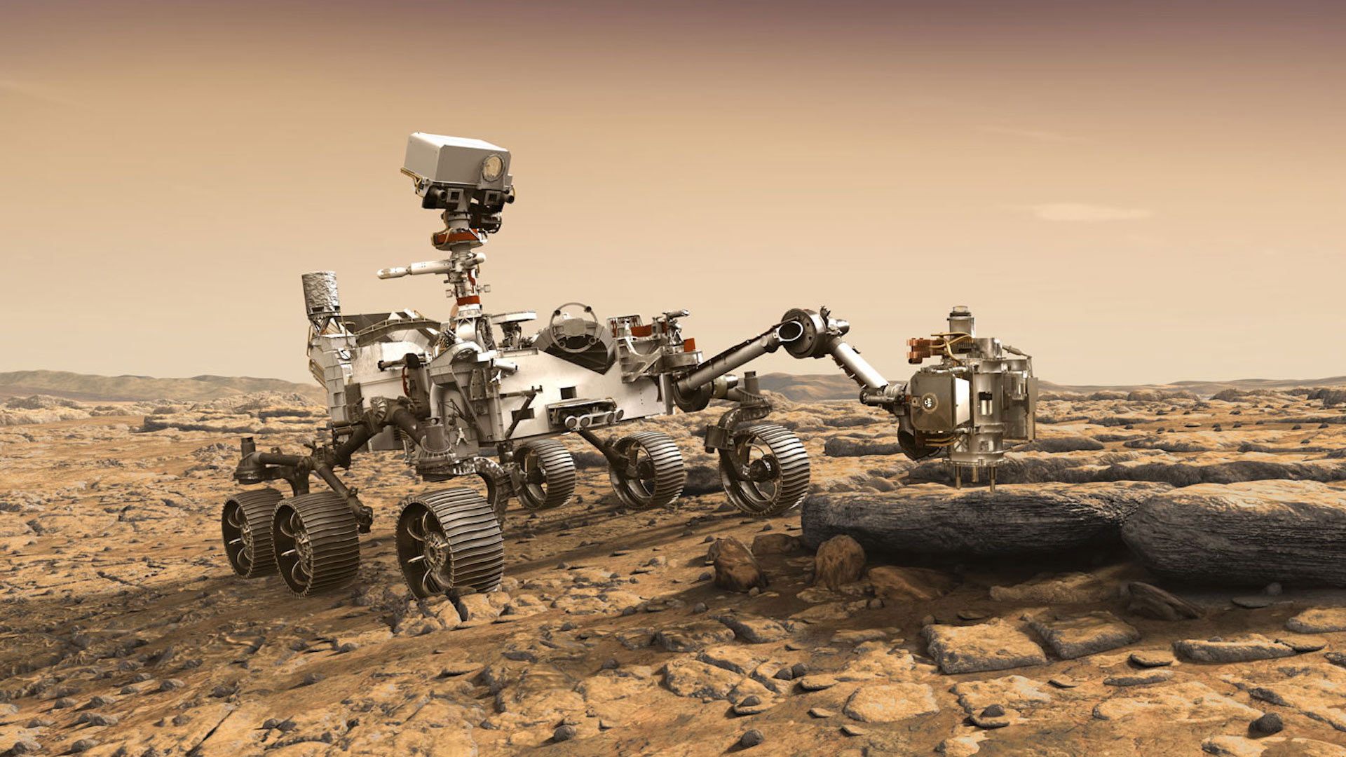 The Mars 2020 rover is among the planetary explorers set to make news in 2021.